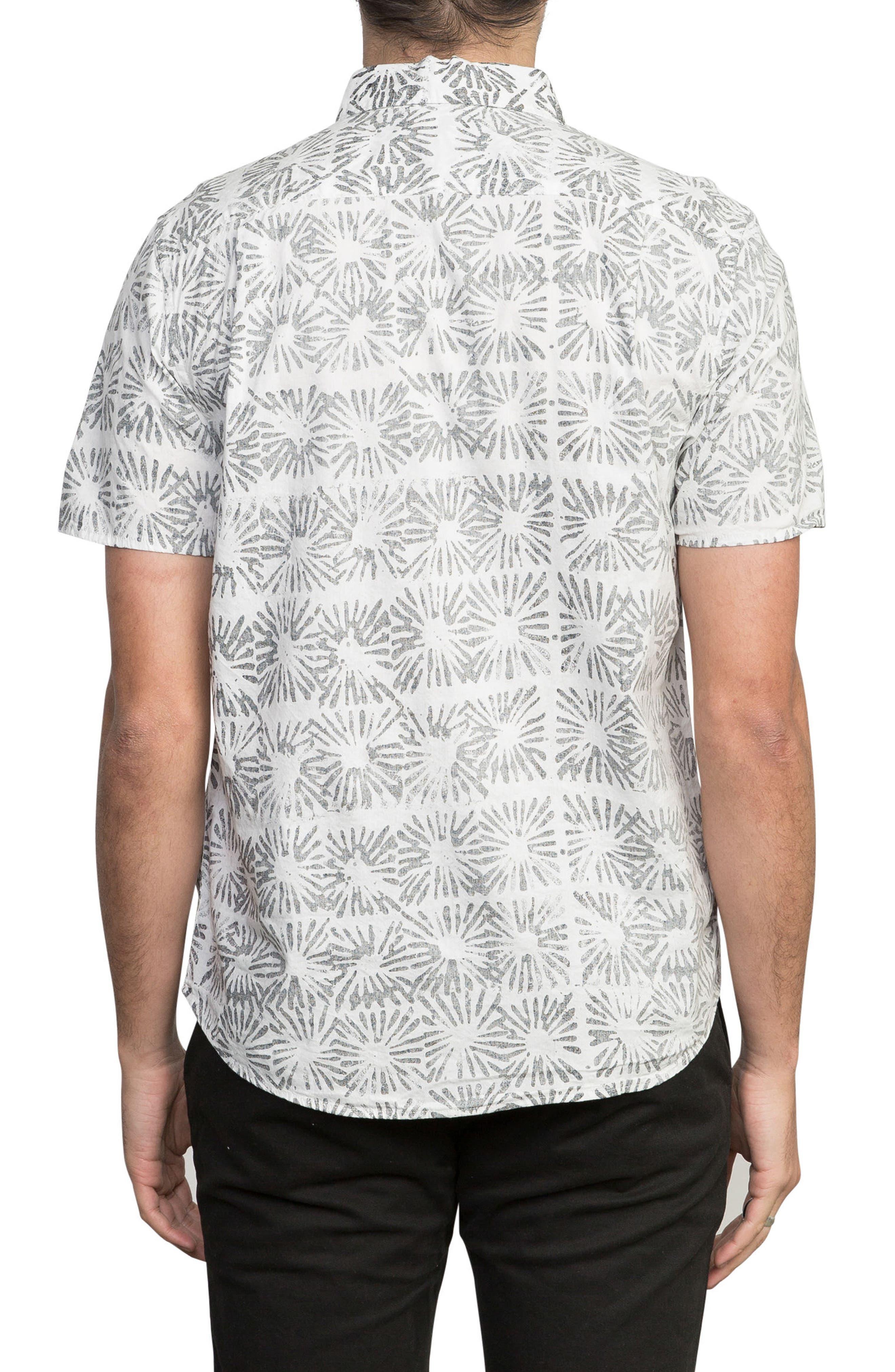 Flower Block Woven Shirt,                             Alternate thumbnail 2, color,                             White