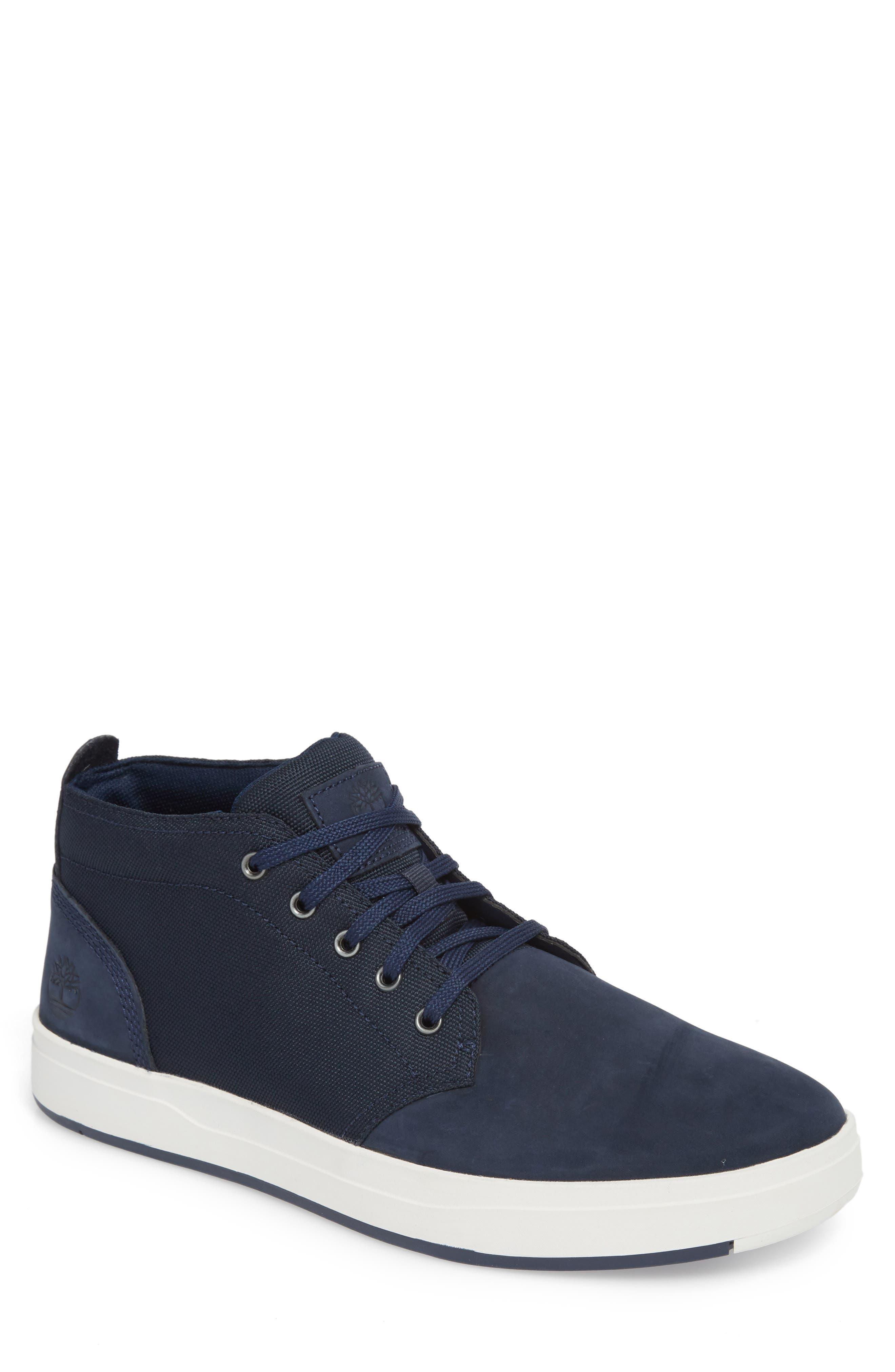 Davis Square Mid Top Sneaker,                             Main thumbnail 1, color,                             Black/ Blue