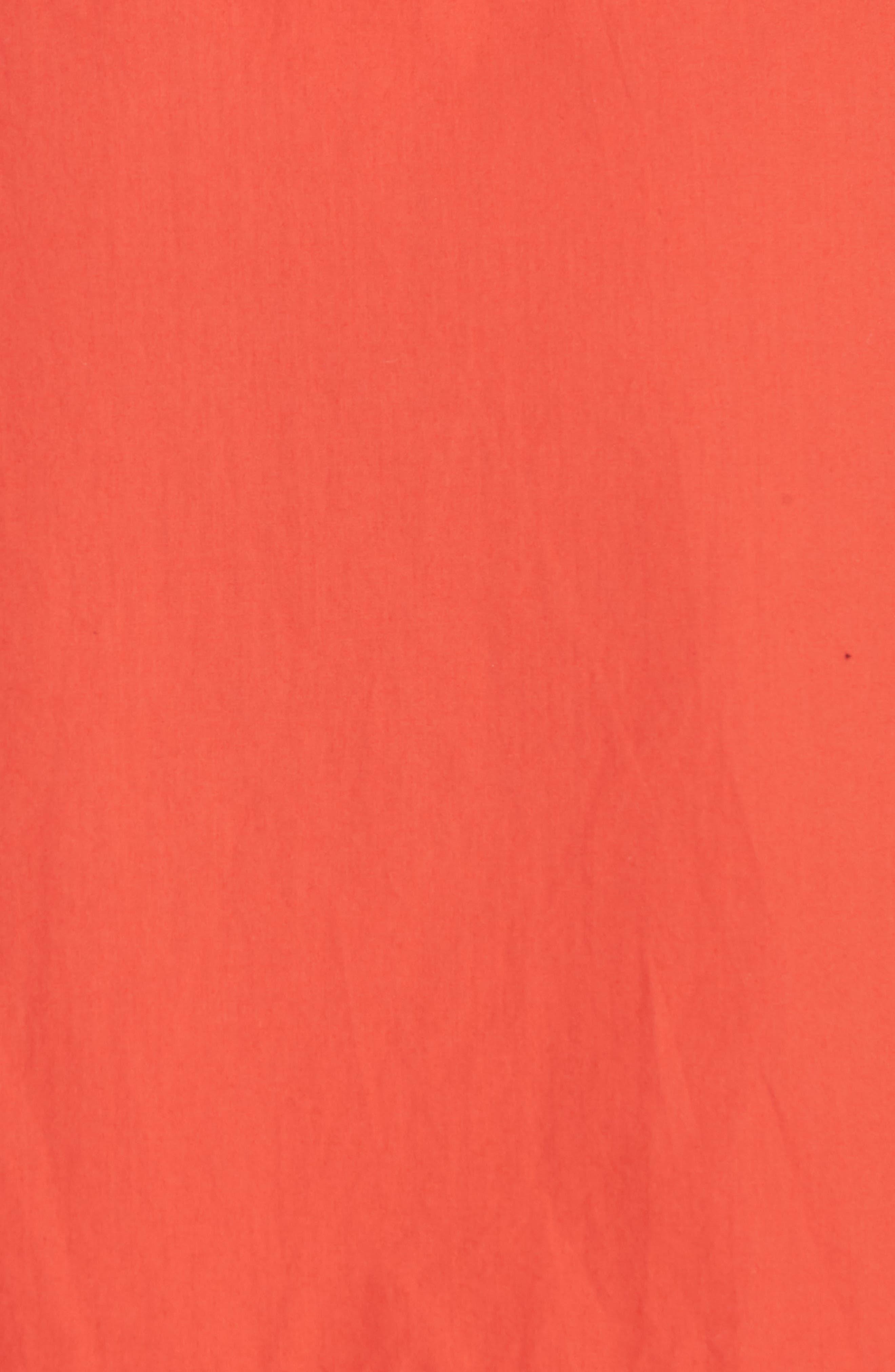 Chesmu Ruffled Cotton Skirt,                             Alternate thumbnail 5, color,                             Salsa