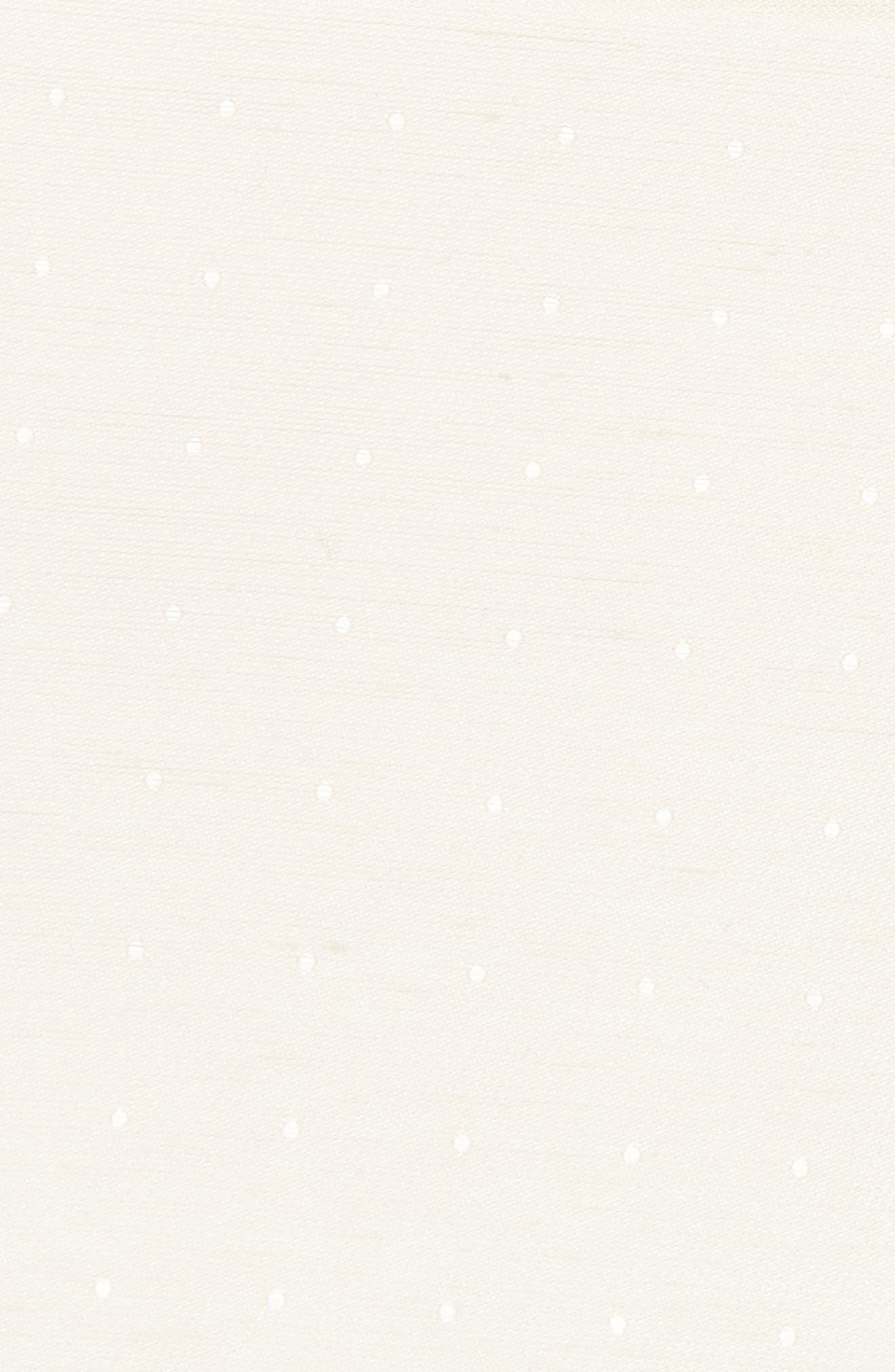 Bulletin Dot Silk & Linen Pocket Square,                             Alternate thumbnail 3, color,                             Ivory
