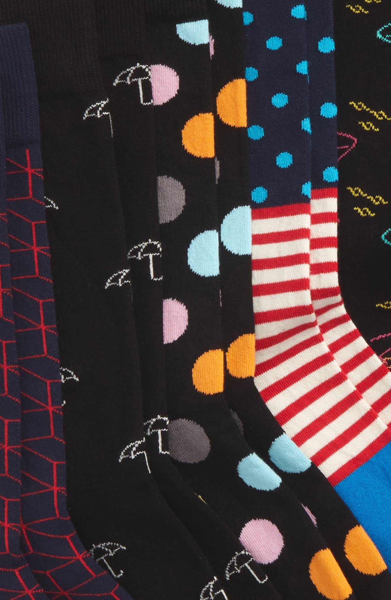 7 Days Assorted 7-Pack Socks Gift Set,                             Alternate thumbnail 2, color,                             Blue Multi