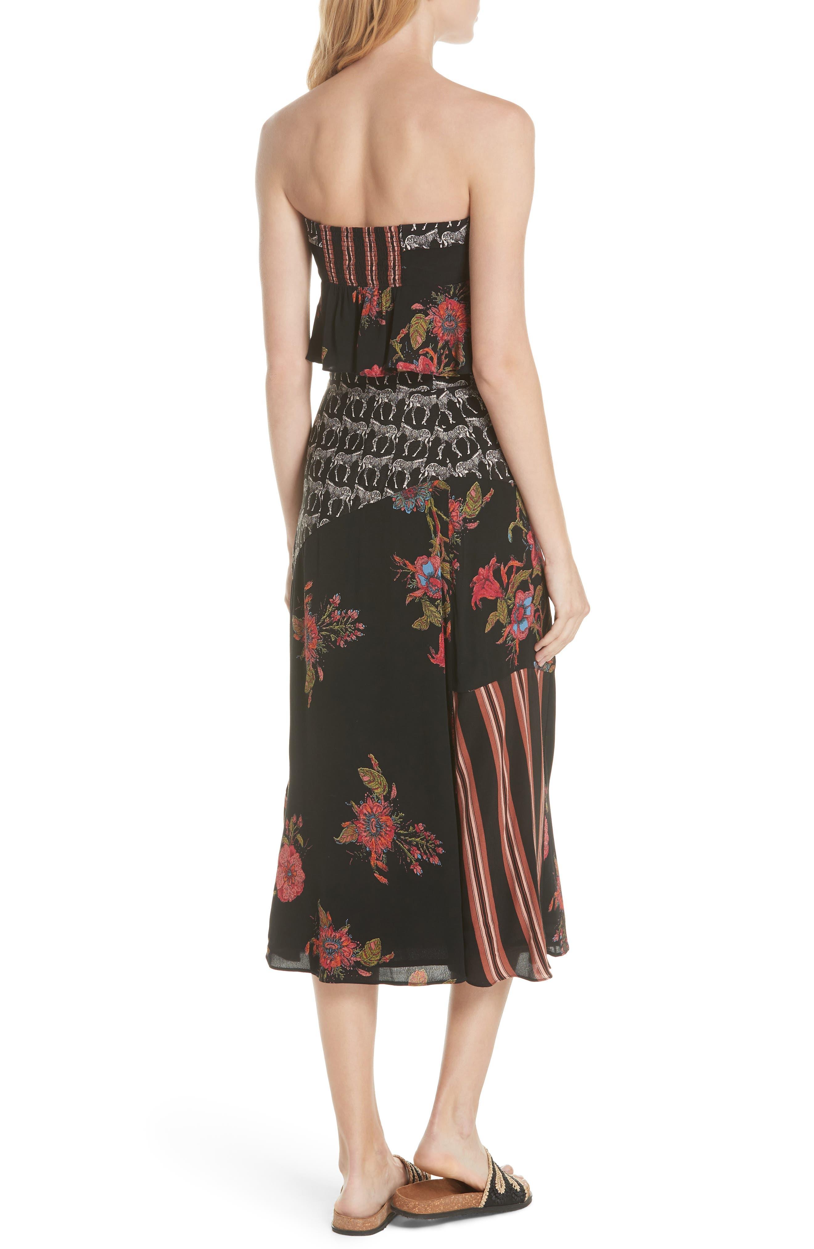 Sunshine Safari Top & Skirt,                             Alternate thumbnail 2, color,                             Black