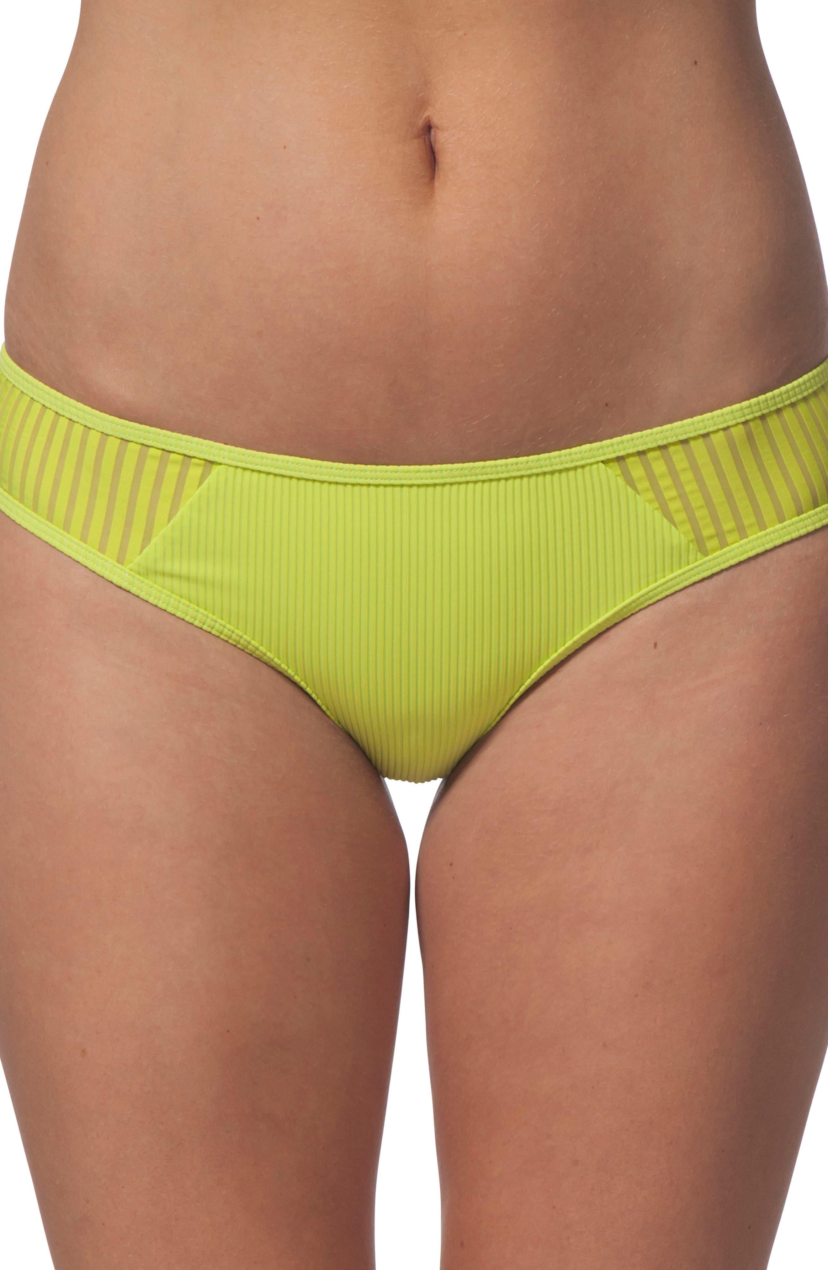 Designer Surf Hipster Bikini Bottoms,                         Main,                         color, Neon Lime