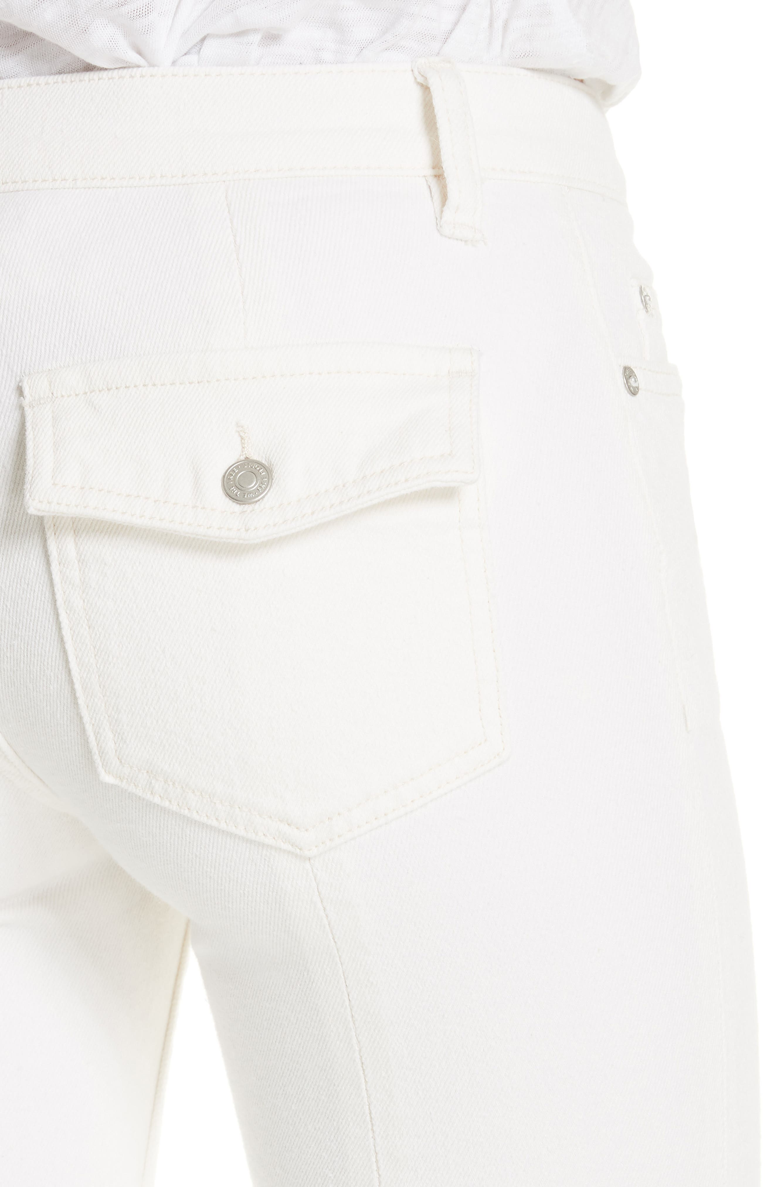 Austen Straight Leg Jeans,                             Alternate thumbnail 4, color,                             White