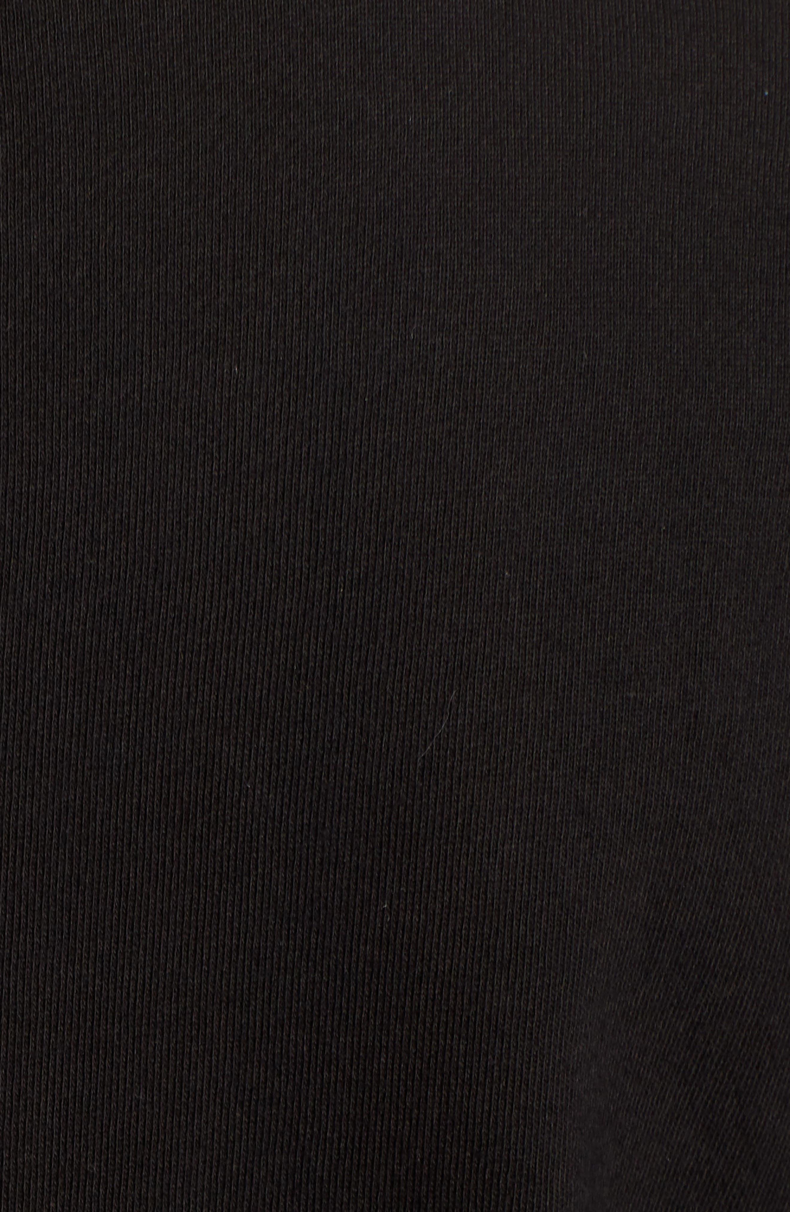Cotton Blend Knit Blazer,                             Alternate thumbnail 5, color,                             Black