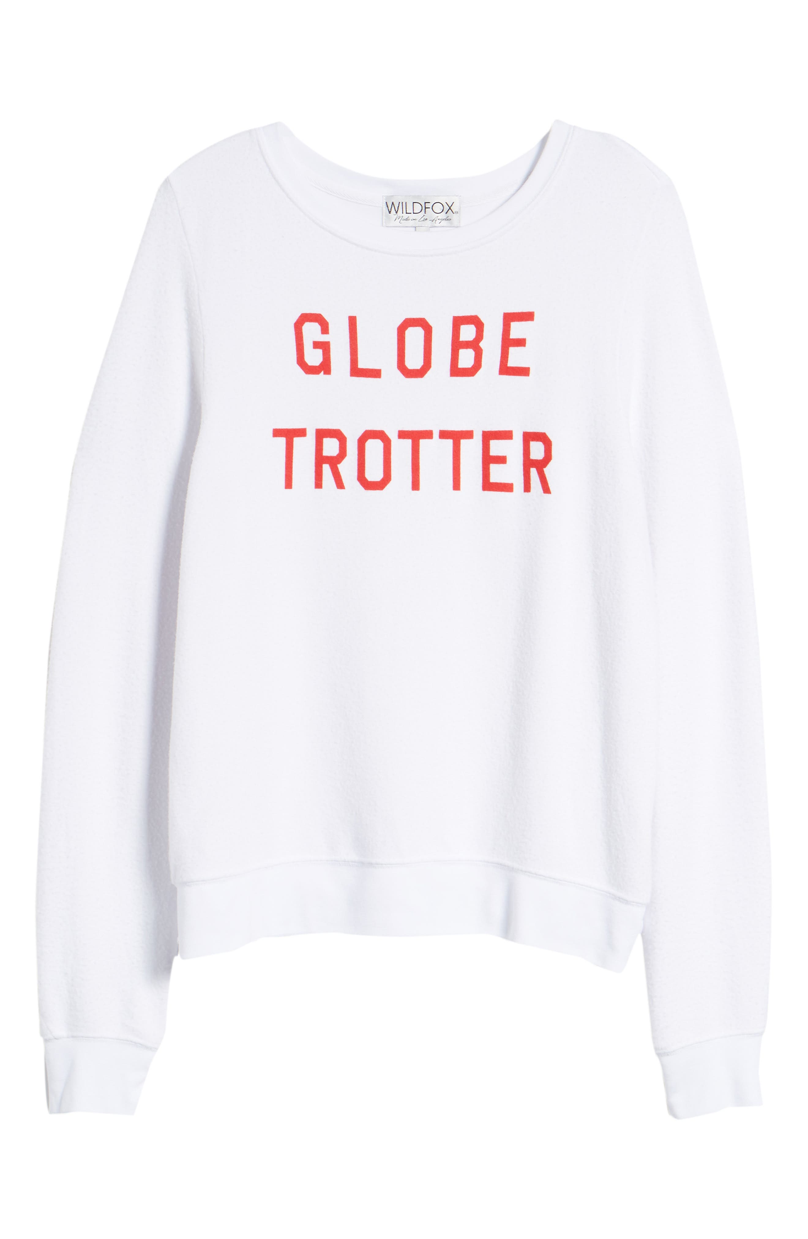 Globetrotter Baggy Beach Pullover,                             Alternate thumbnail 6, color,                             Clean White