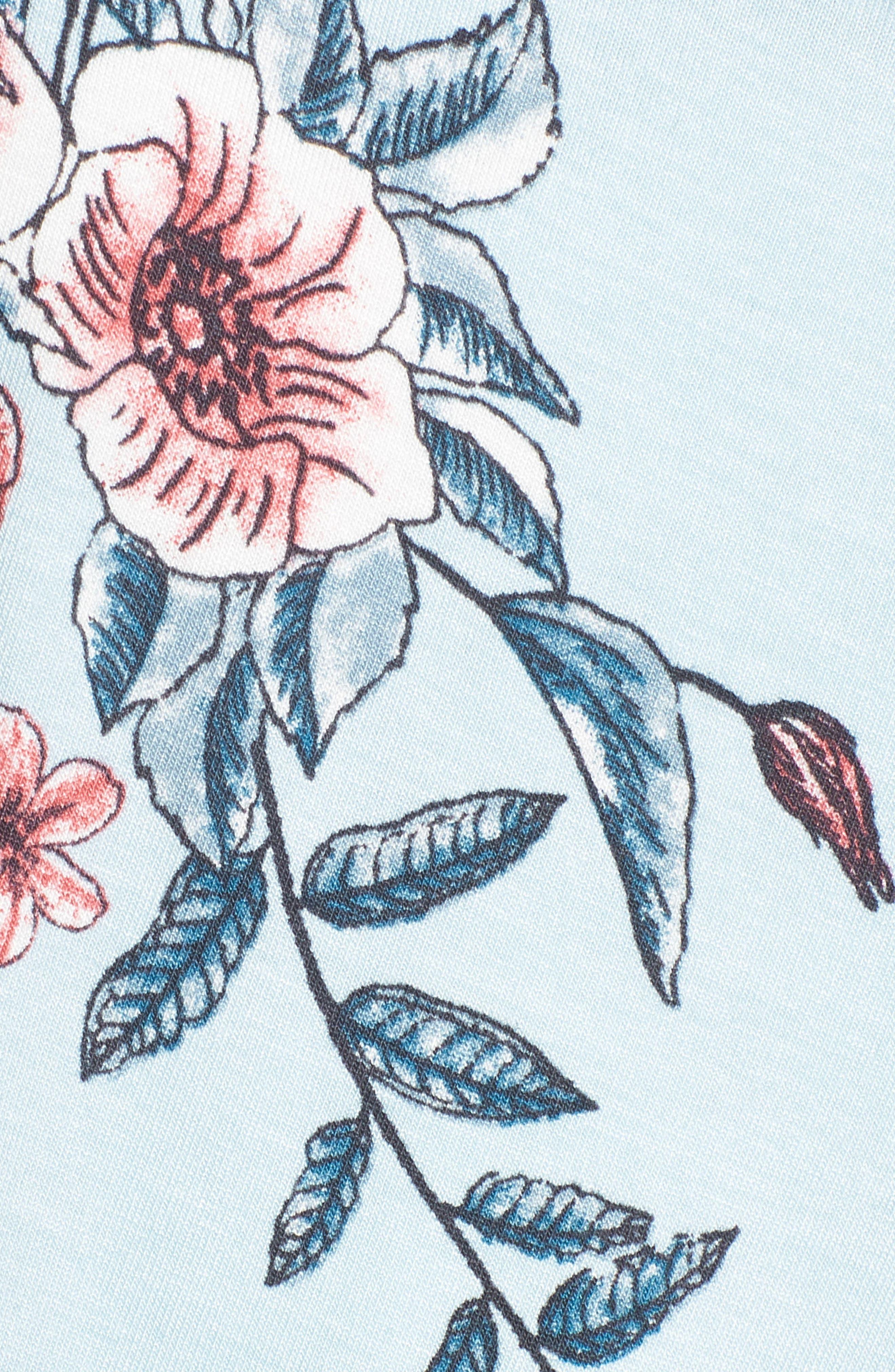 Knit Maxi Dress,                             Alternate thumbnail 6, color,                             Sky Rose