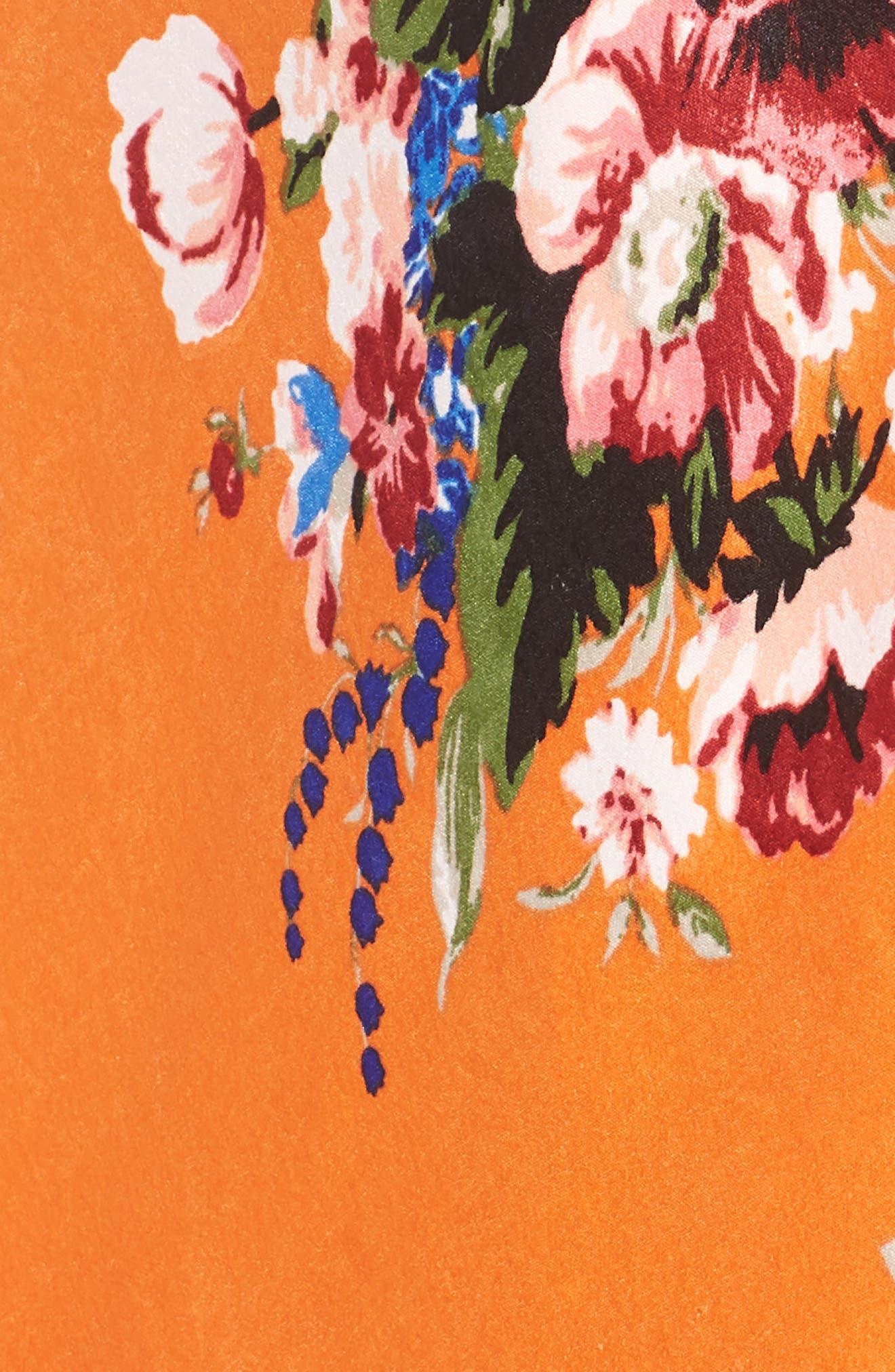 Lulu Off the Shoulder Crop Top,                             Alternate thumbnail 3, color,                             Orange Rose