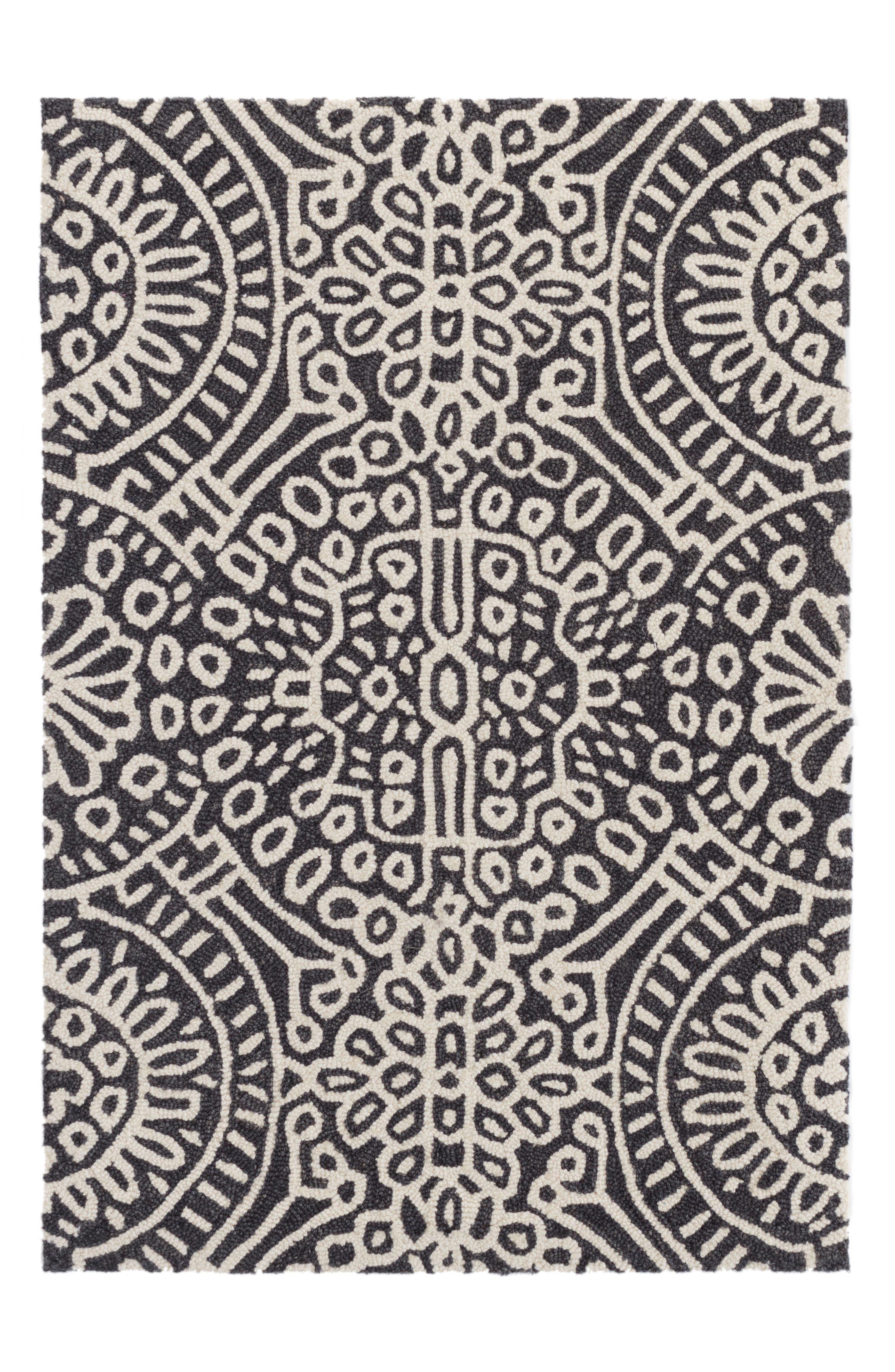Wool Rug,                             Main thumbnail 1, color,                             Grey