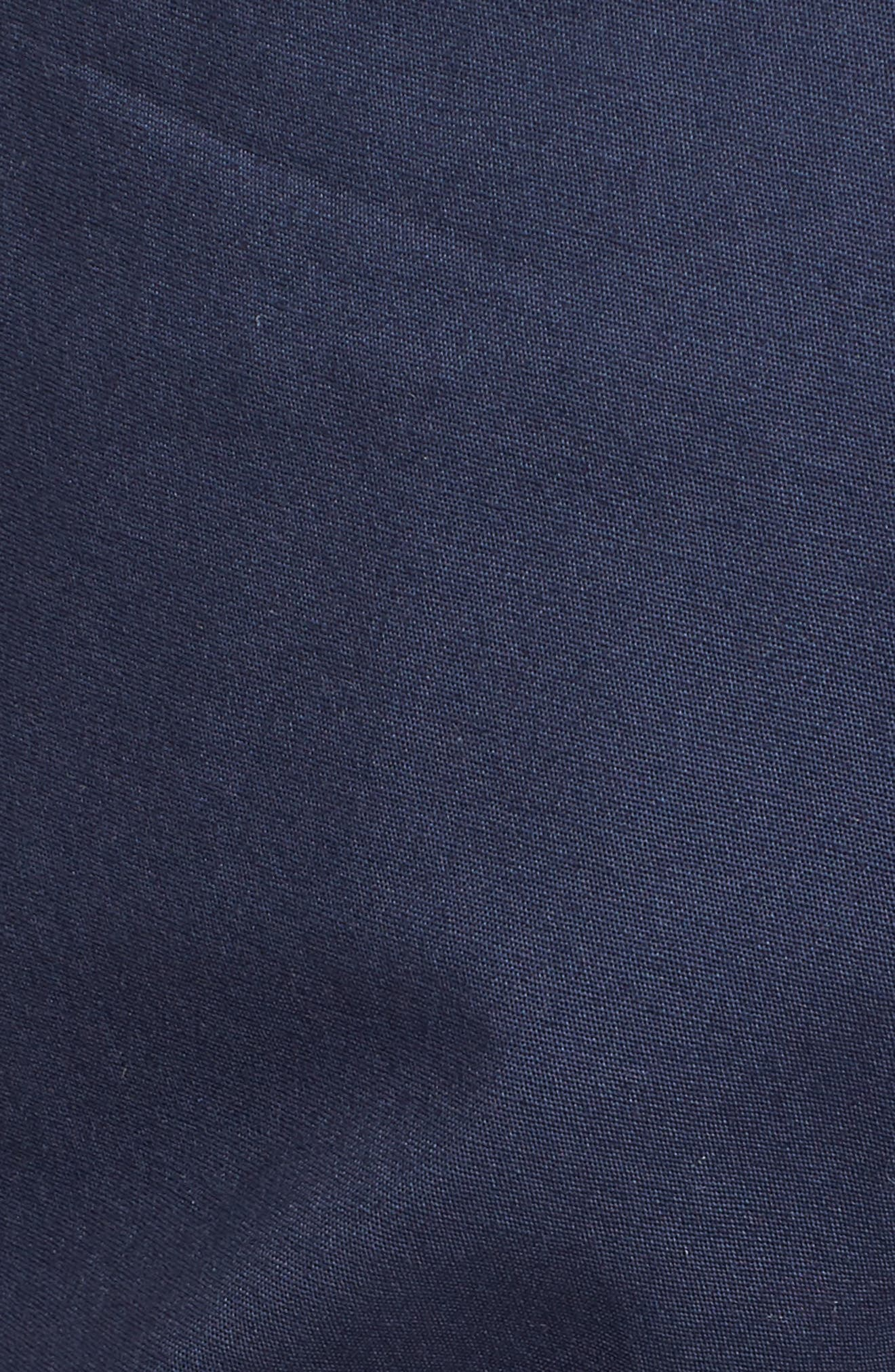 Tie Cuff Stretch Cotton Crop Pants,                             Alternate thumbnail 6, color,                             Ensign Blue