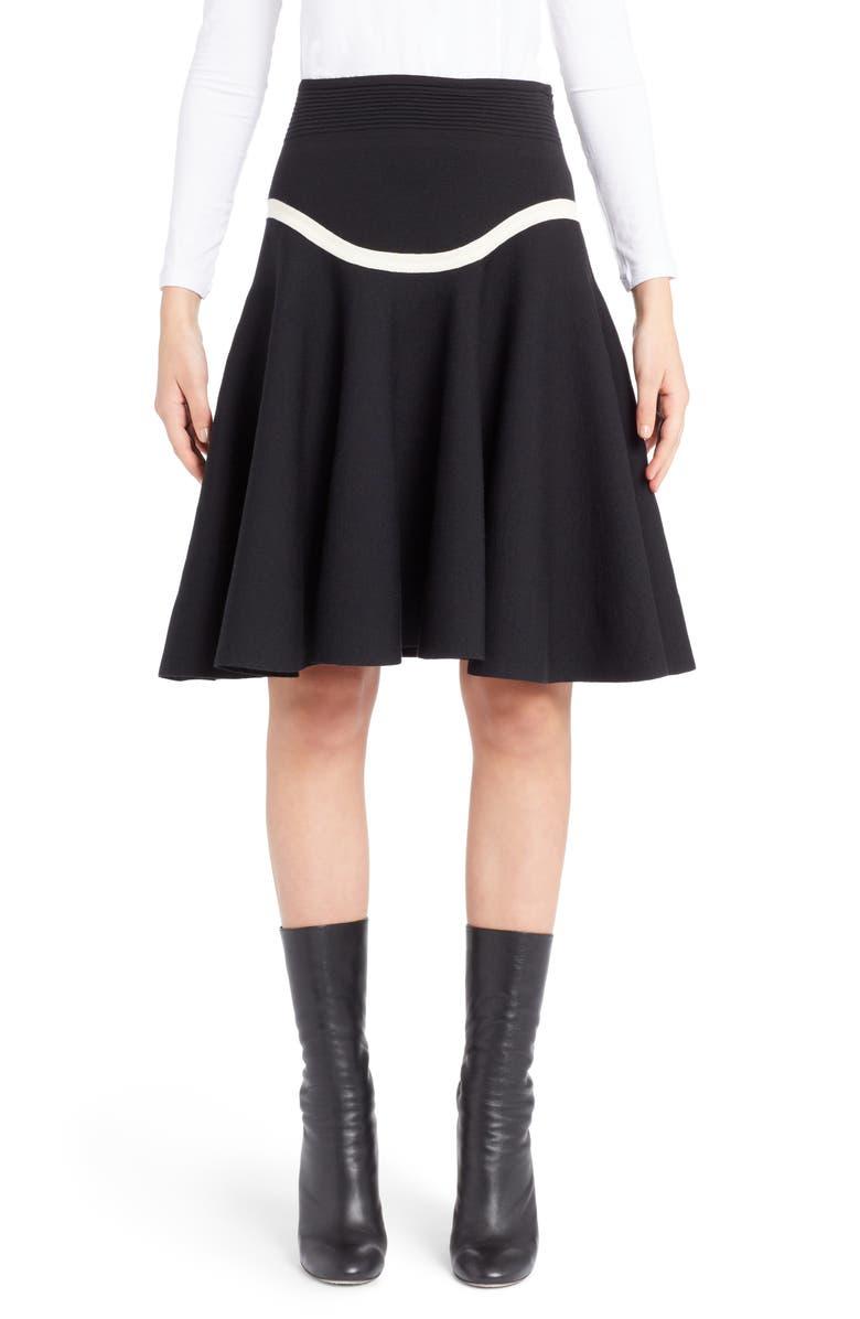 Graphic Stripe Knit Skirt