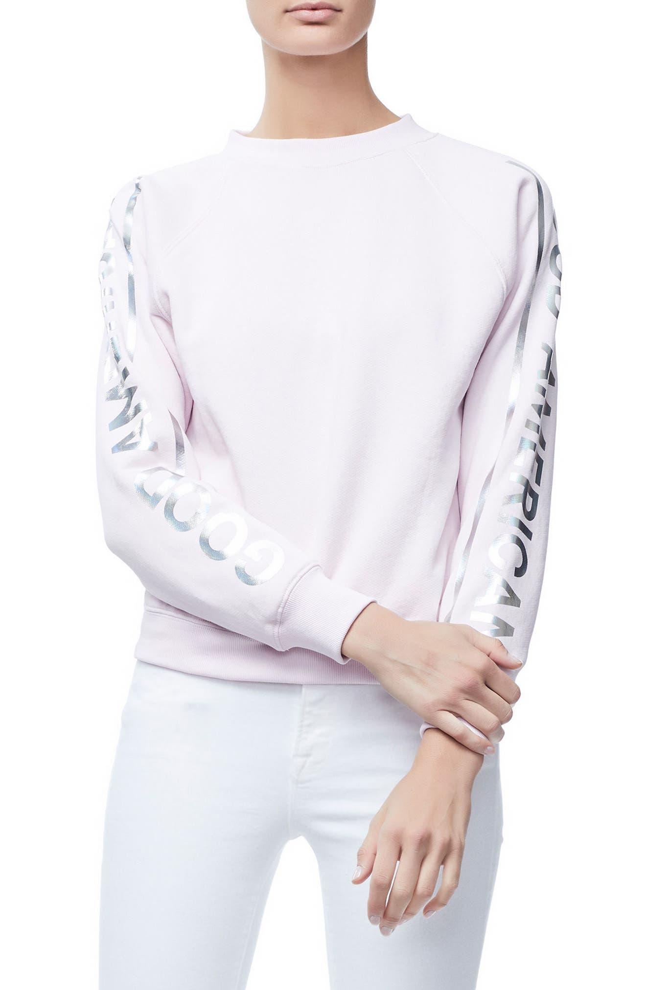 Crewneck Sweatshirt,                         Main,                         color, Pink