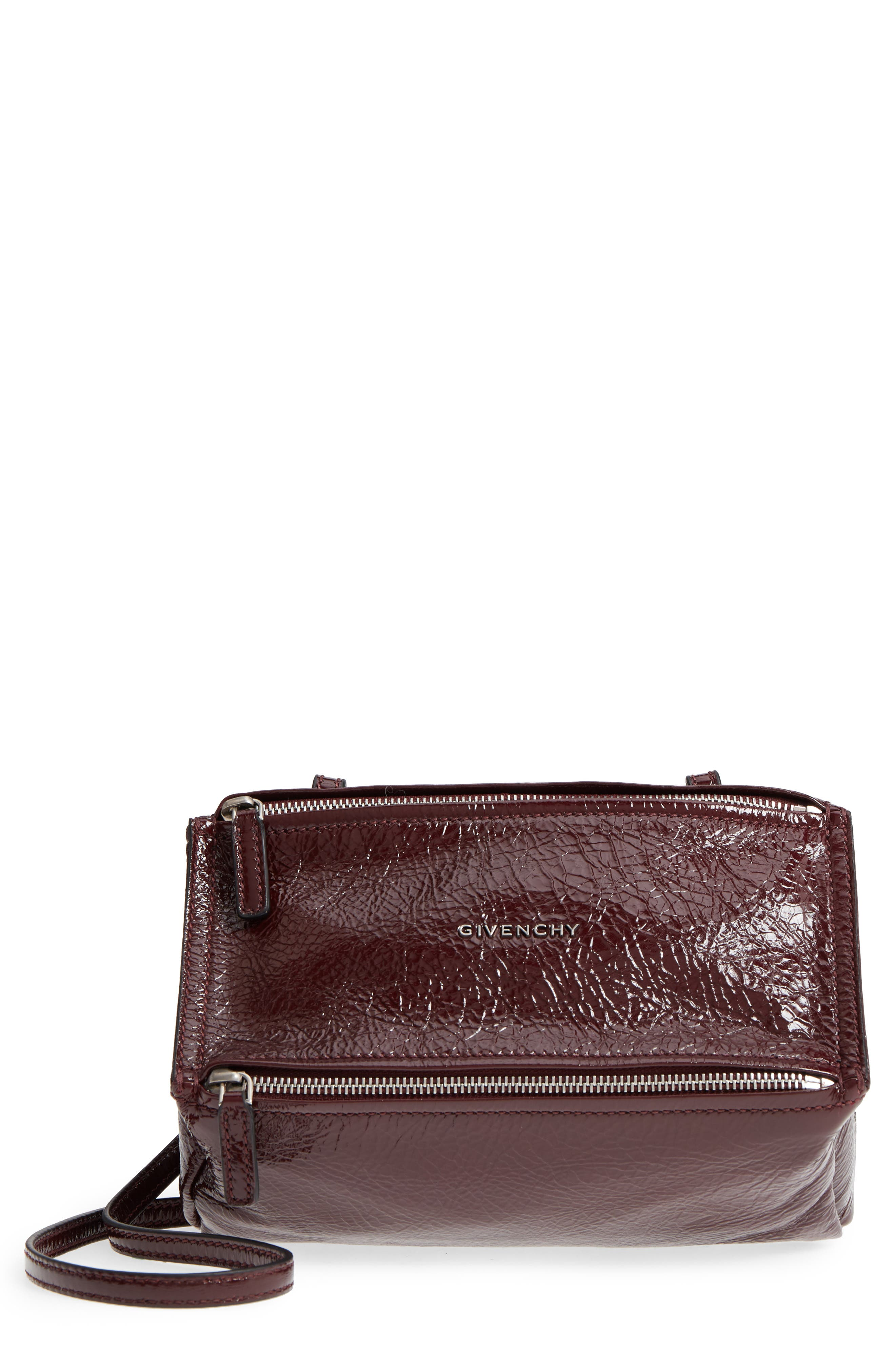 Givenchy Mini Pandora Creased Patent Leather Satchel