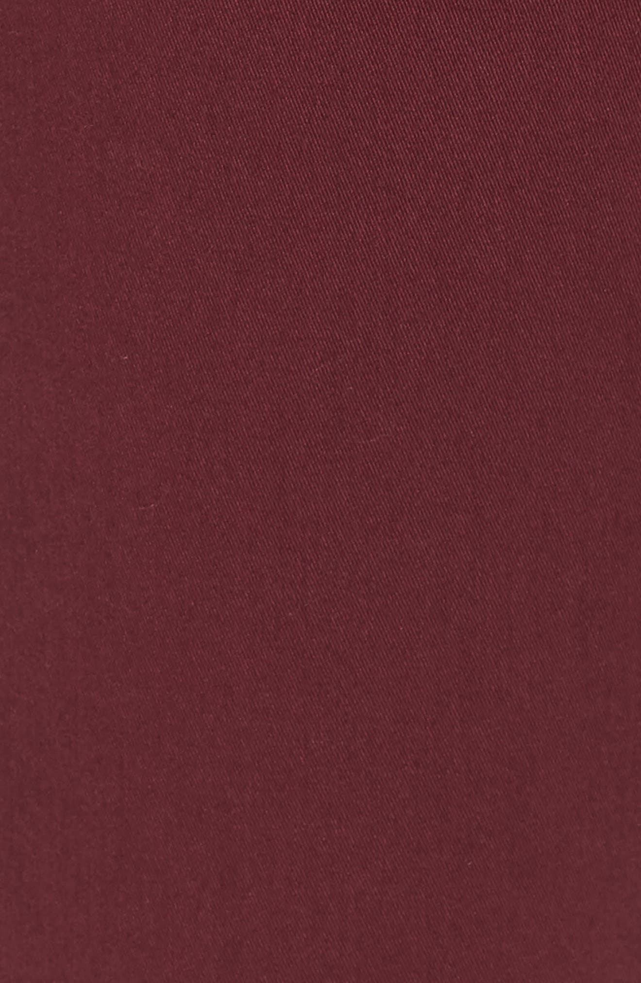 Stretch Twill Utility Pants,                             Alternate thumbnail 6, color,                             Burgundy