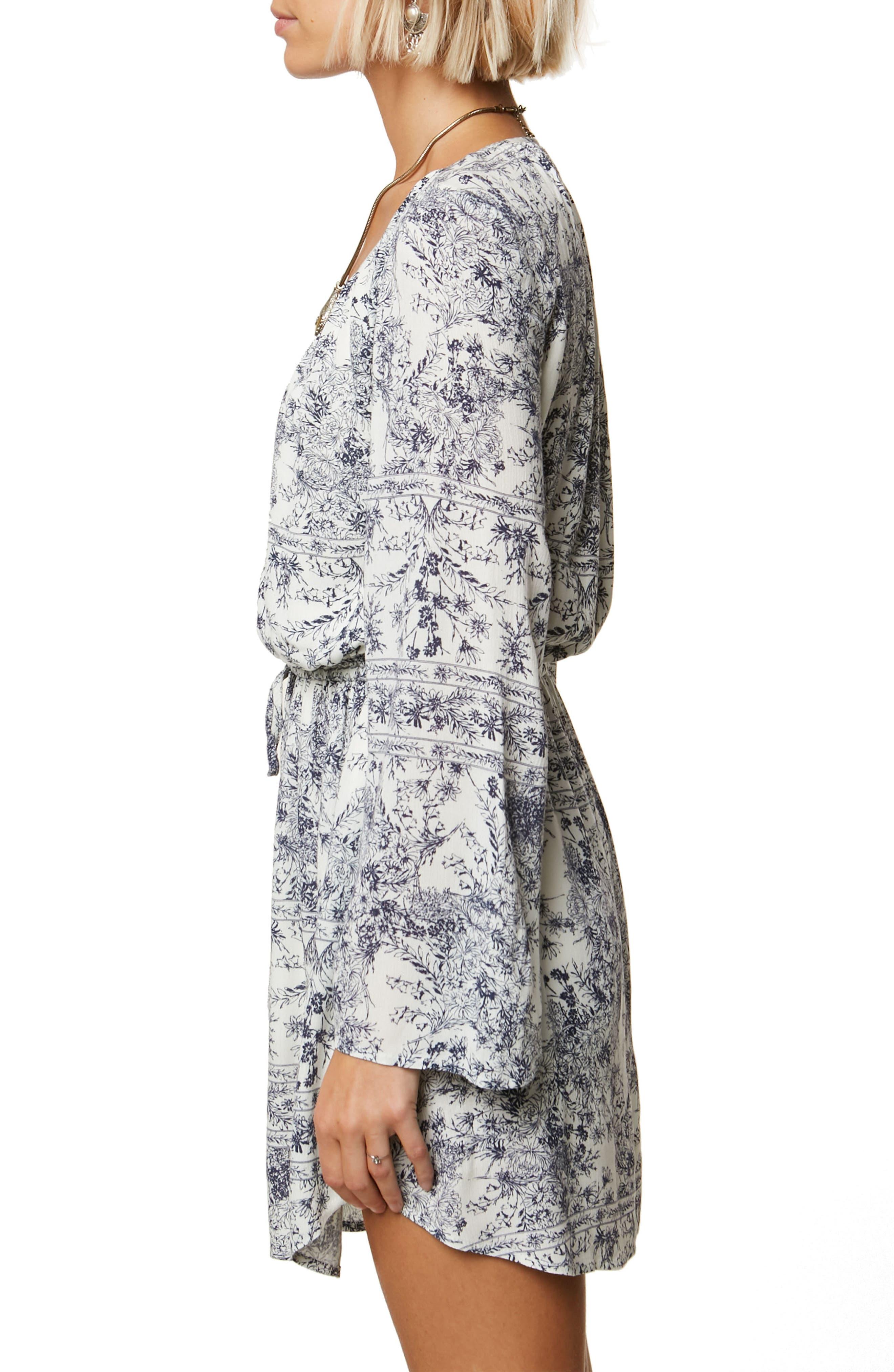 Gretchen Bell Sleeve Blouson Dress,                             Alternate thumbnail 3, color,                             Naked