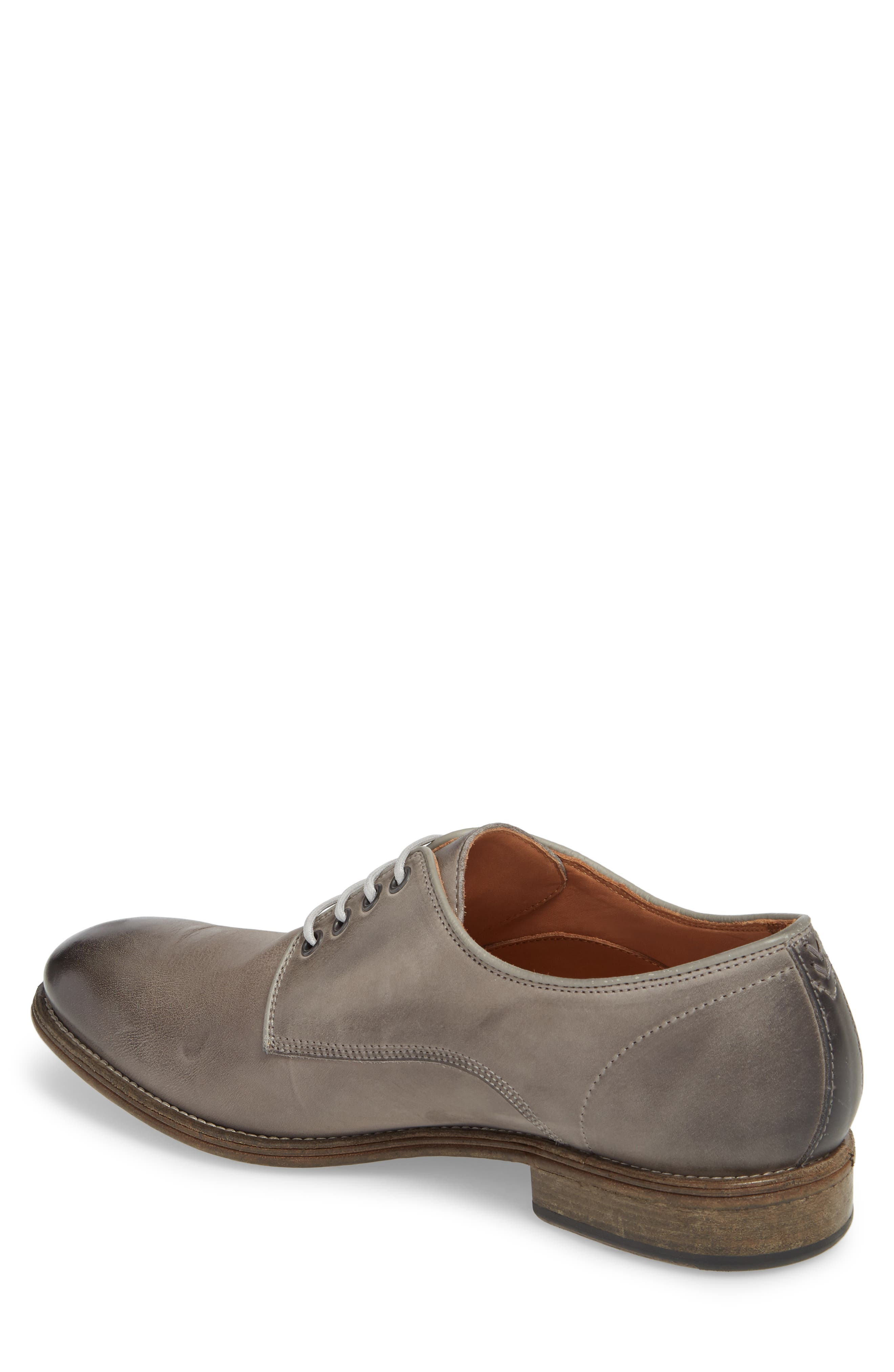John Varvatos Stanton Plain Toe Derby,                             Alternate thumbnail 2, color,                             Ash Leather