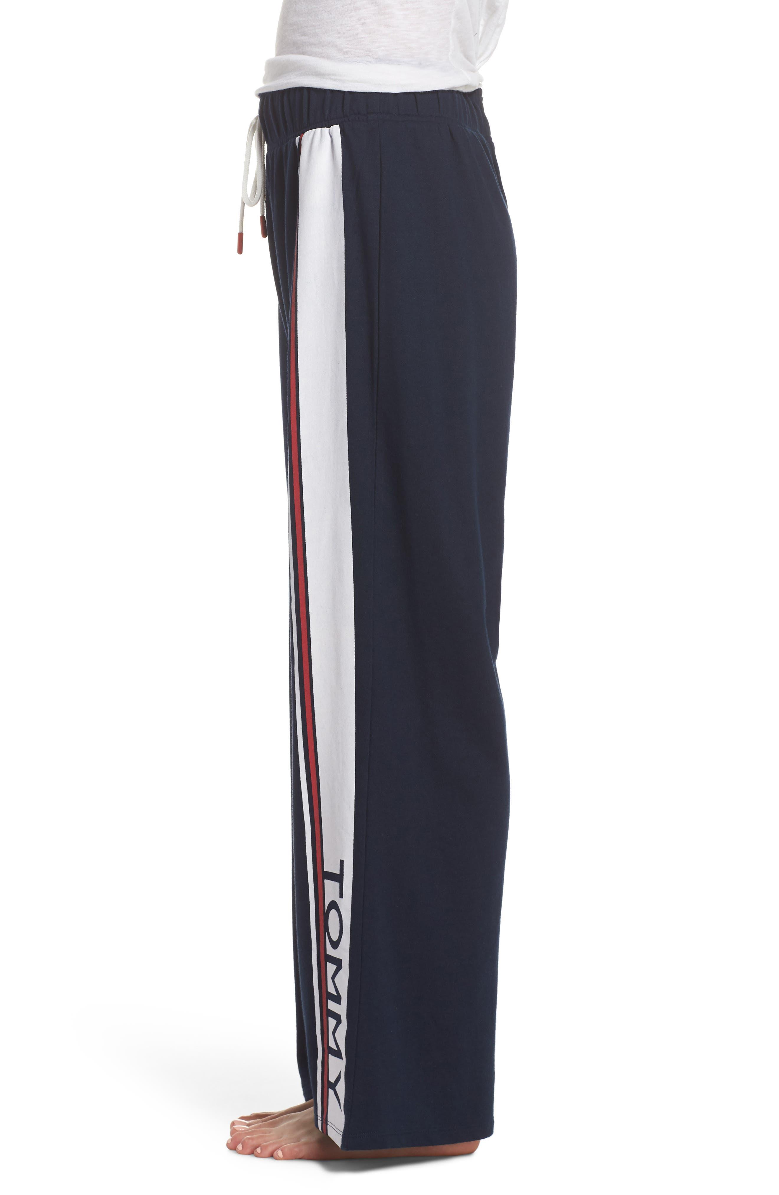 Stripe Lounge Pants,                             Alternate thumbnail 3, color,                             Navy Blazer