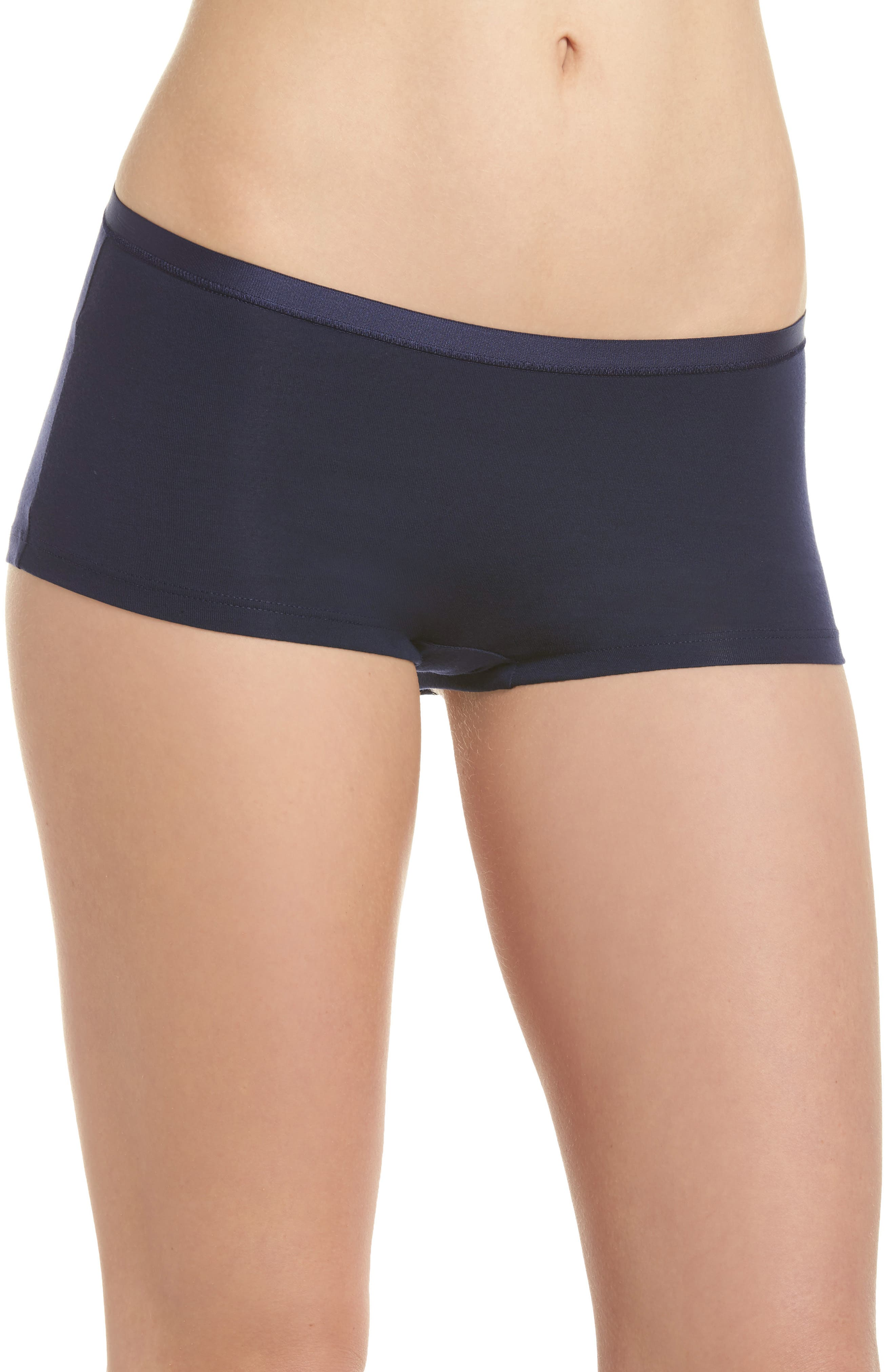 Soft Touch Stretch Modal Boyshorts,                         Main,                         color, Crown Blue
