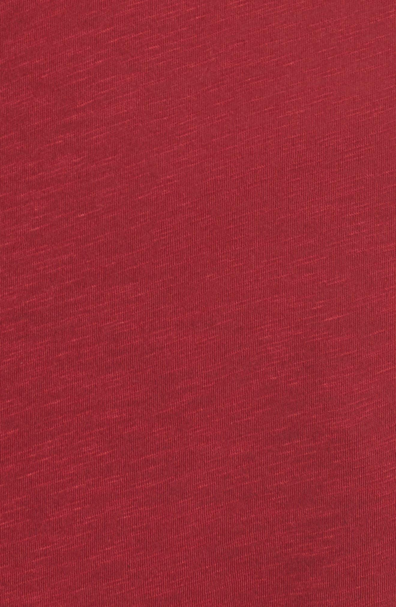 Long Sleeve Crewneck Tee,                             Alternate thumbnail 12, color,                             Red Rumba