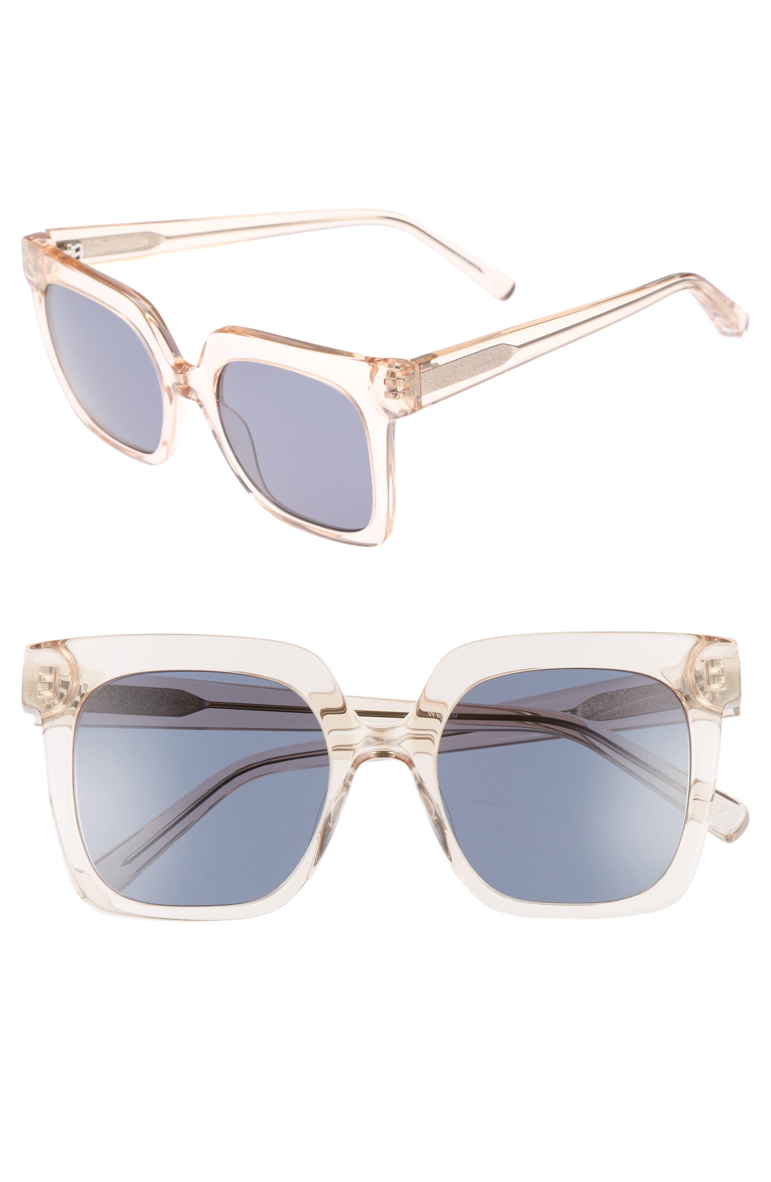 Rae 51mm Square Sunglasses,                             Main thumbnail 1, color,                             Crystal Tea