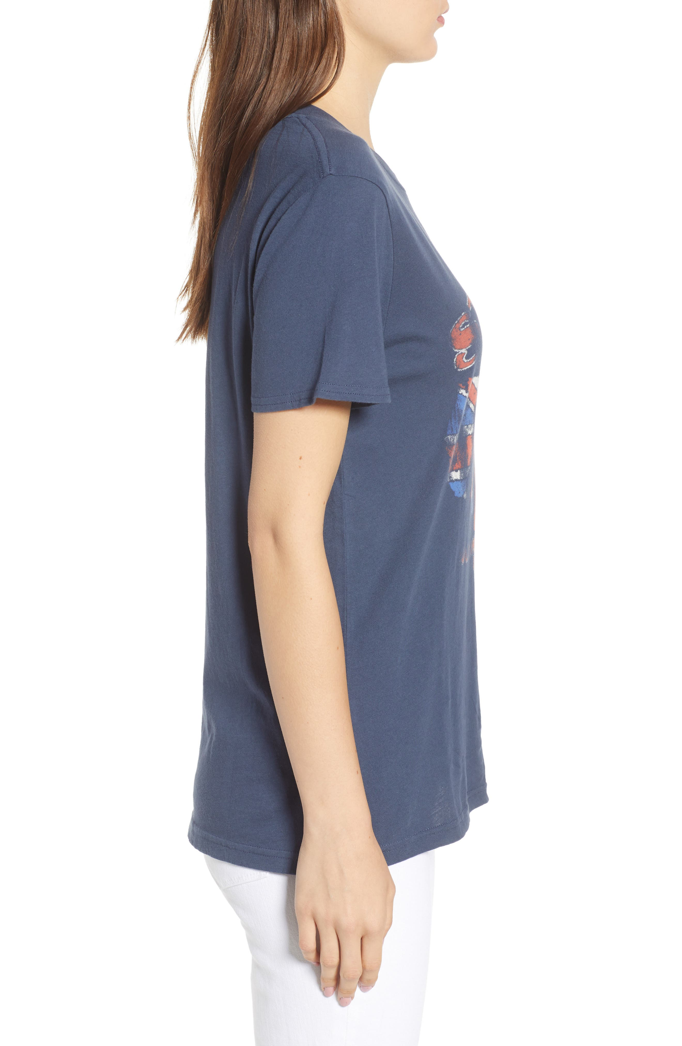 The Stones Graphic Tee,                             Alternate thumbnail 3, color,                             Navy Blue Combo