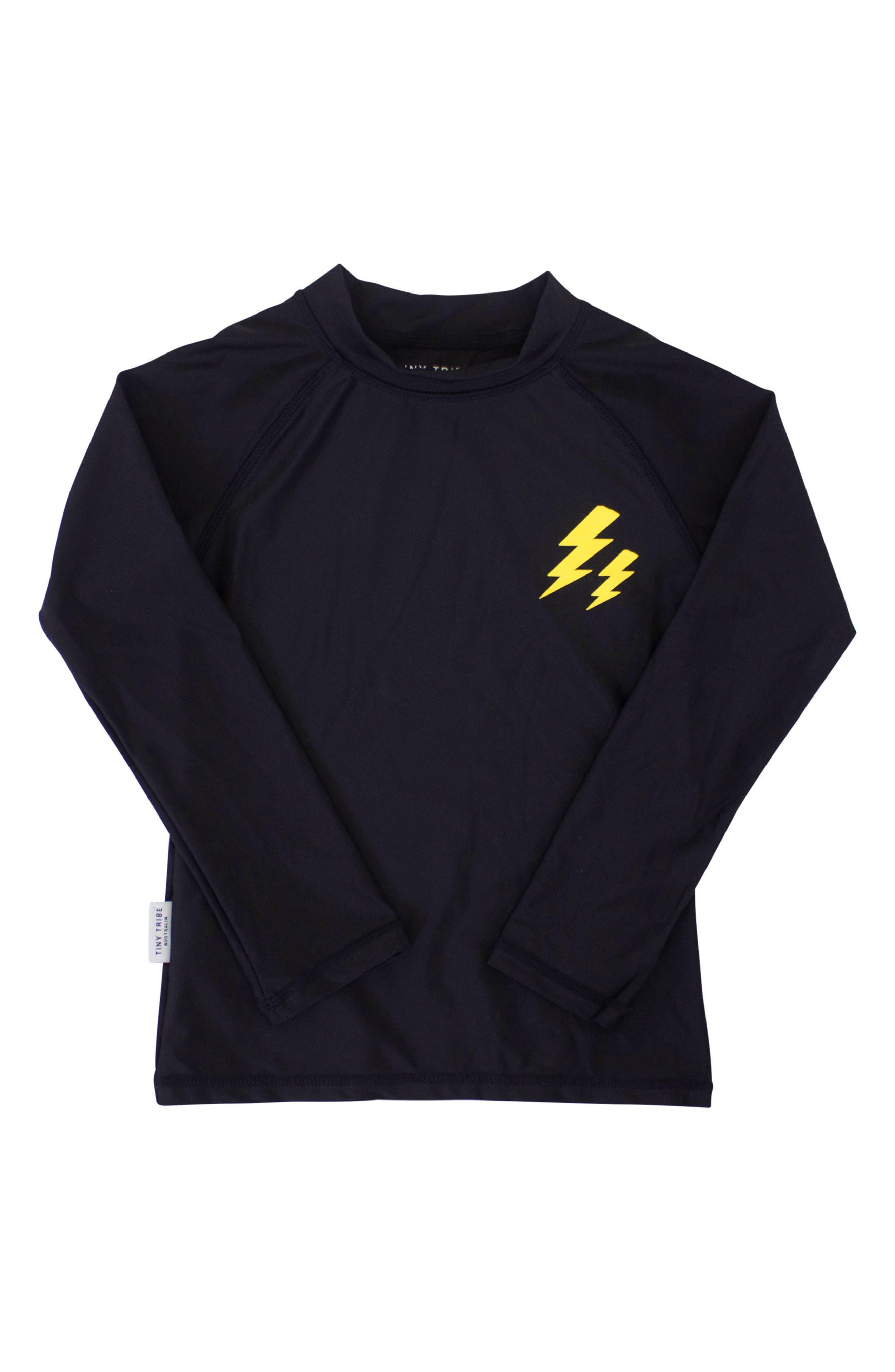 Electric Rashguard Top,                         Main,                         color, Black