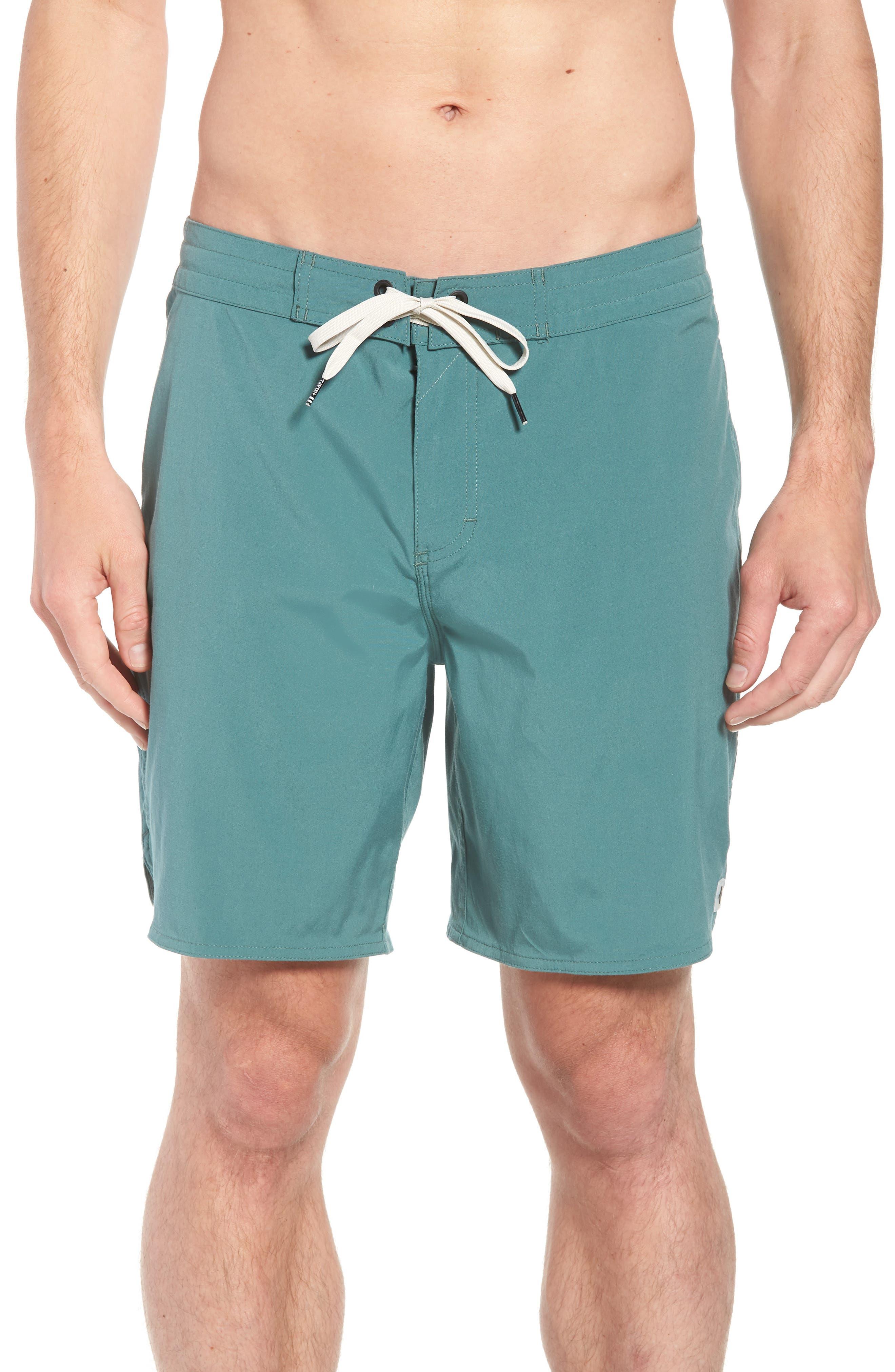 Avalon Board Shorts,                         Main,                         color, Palm Green