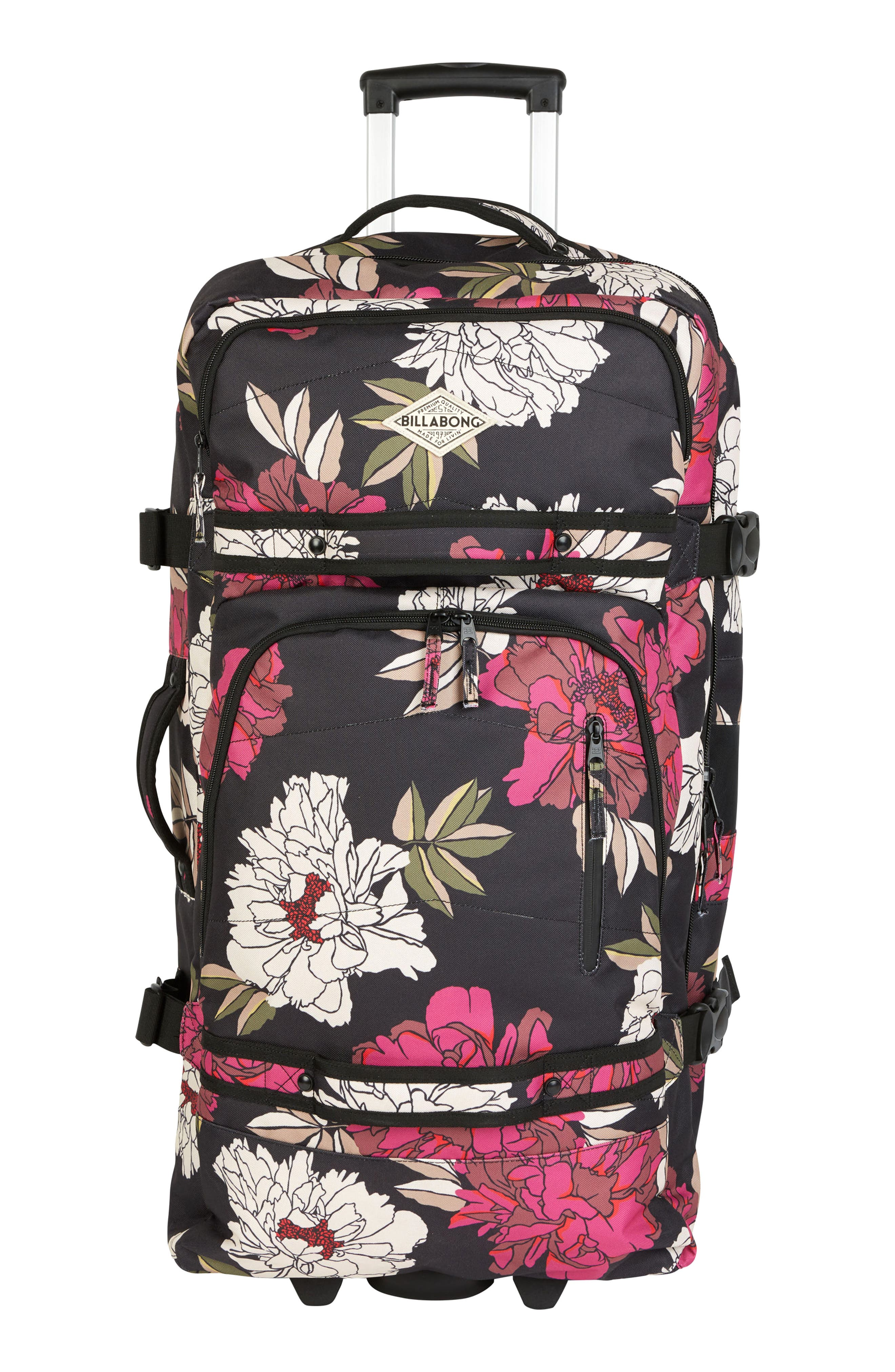 Keep It Rollin Duffel Bag,                             Main thumbnail 1, color,                             Rebel Pink
