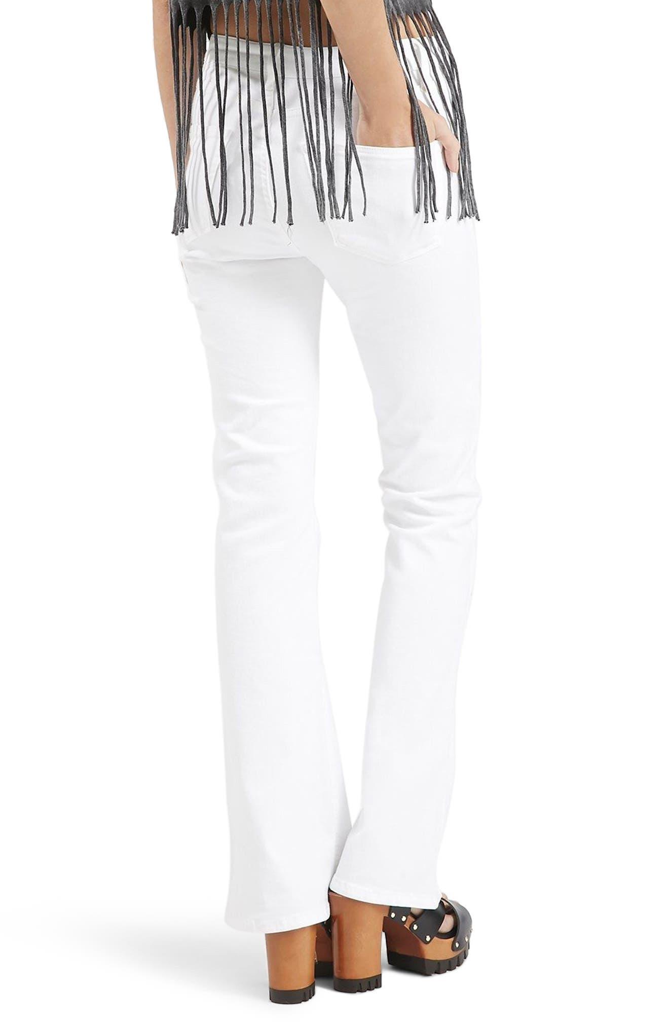 Jamie Flare Jeans,                             Alternate thumbnail 2, color,                             White