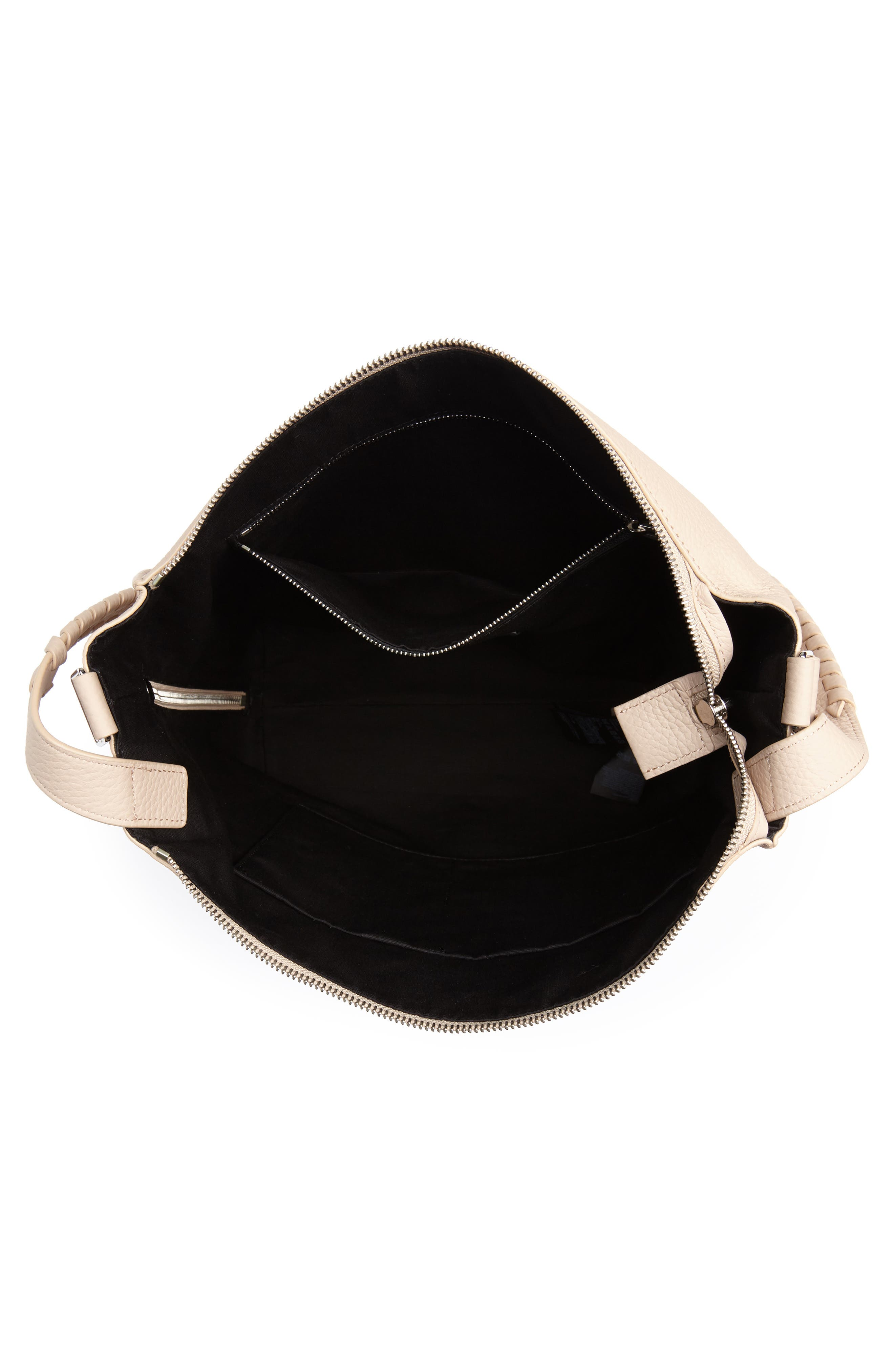 Small Kita Convertible Leather Backpack,                             Alternate thumbnail 4, color,                             Natural