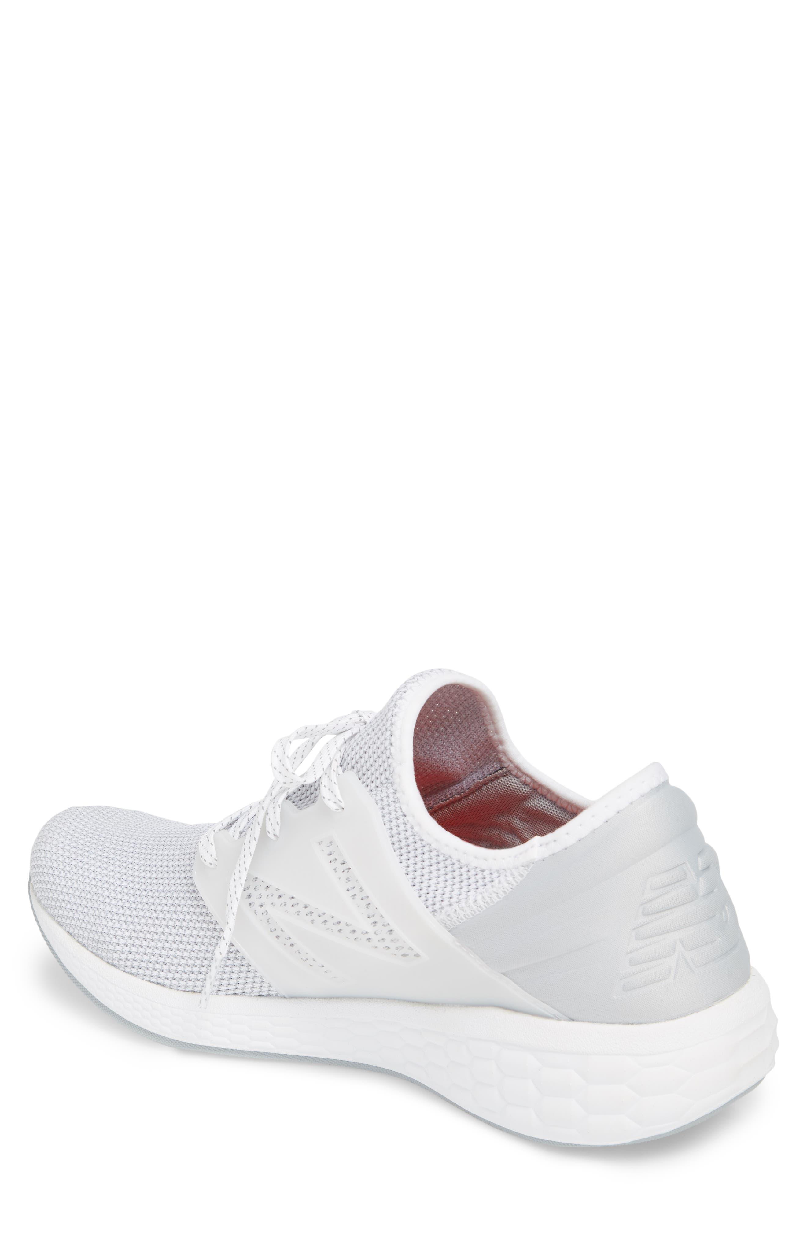 Fresh Foam Cruz v2 Sport Running Shoe,                             Alternate thumbnail 2, color,                             White