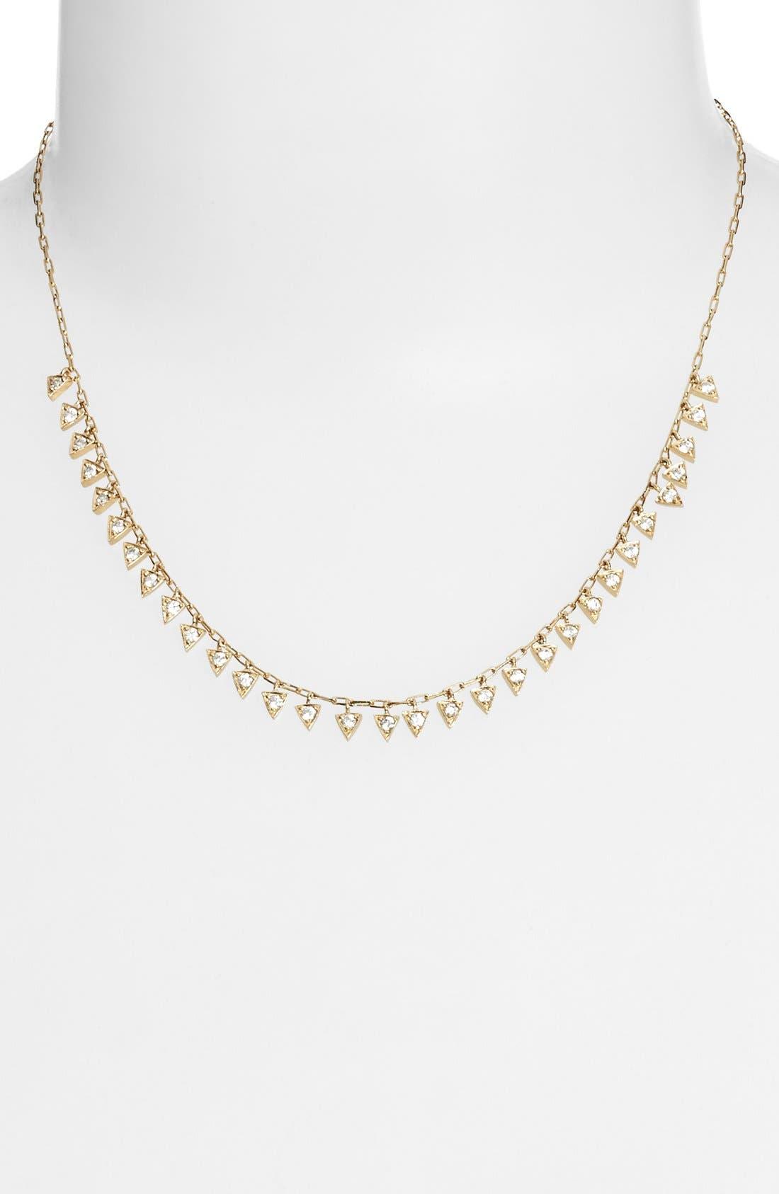 Alternate Image 2  - Melinda Maria 'Pyramid - Mini Fringe' Frontal Necklace