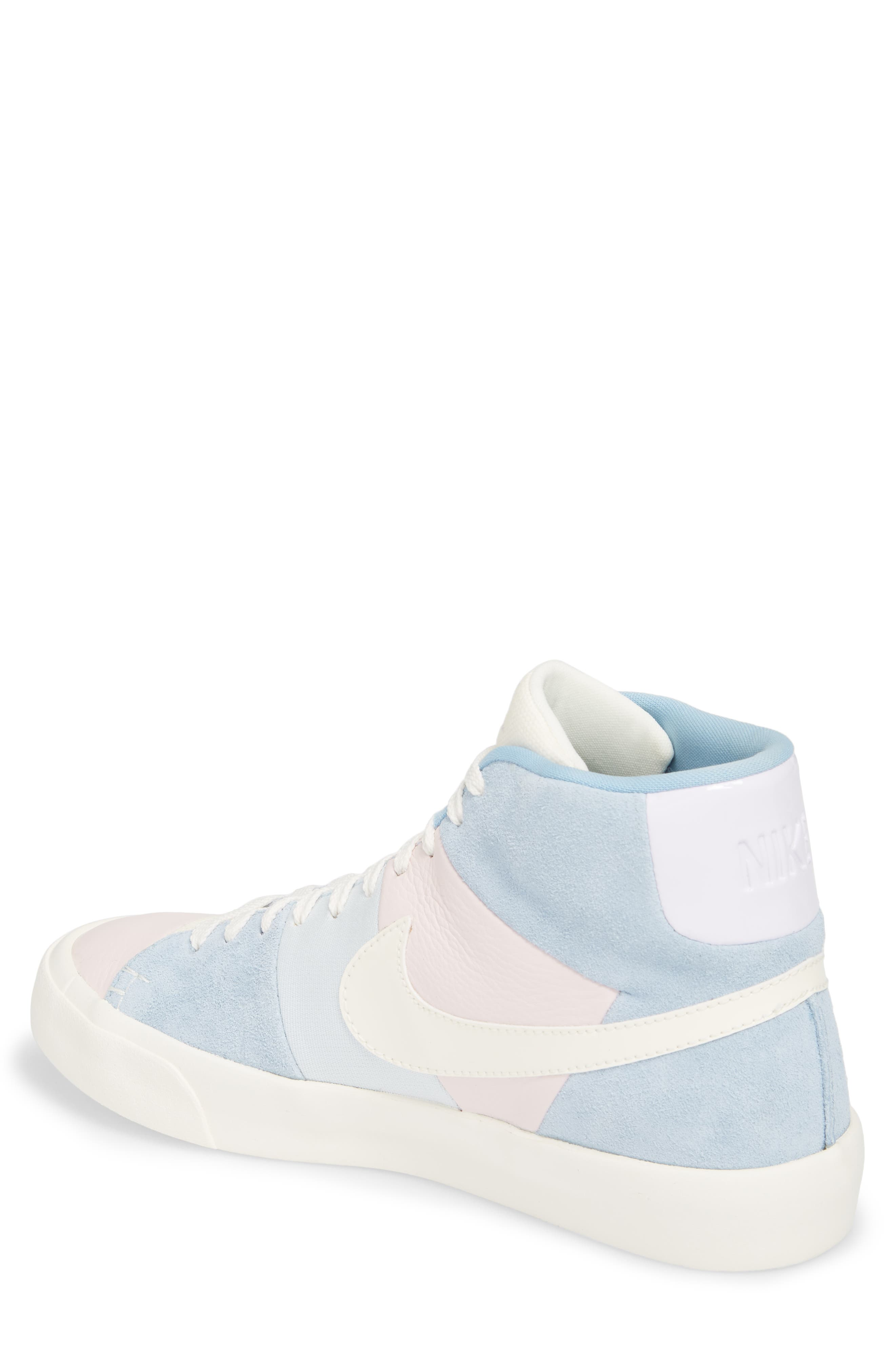 Blazer Royal Easter QS High Top Sneaker,                             Alternate thumbnail 2, color,                             Arctic Pink/ Sail-Blue-Blue