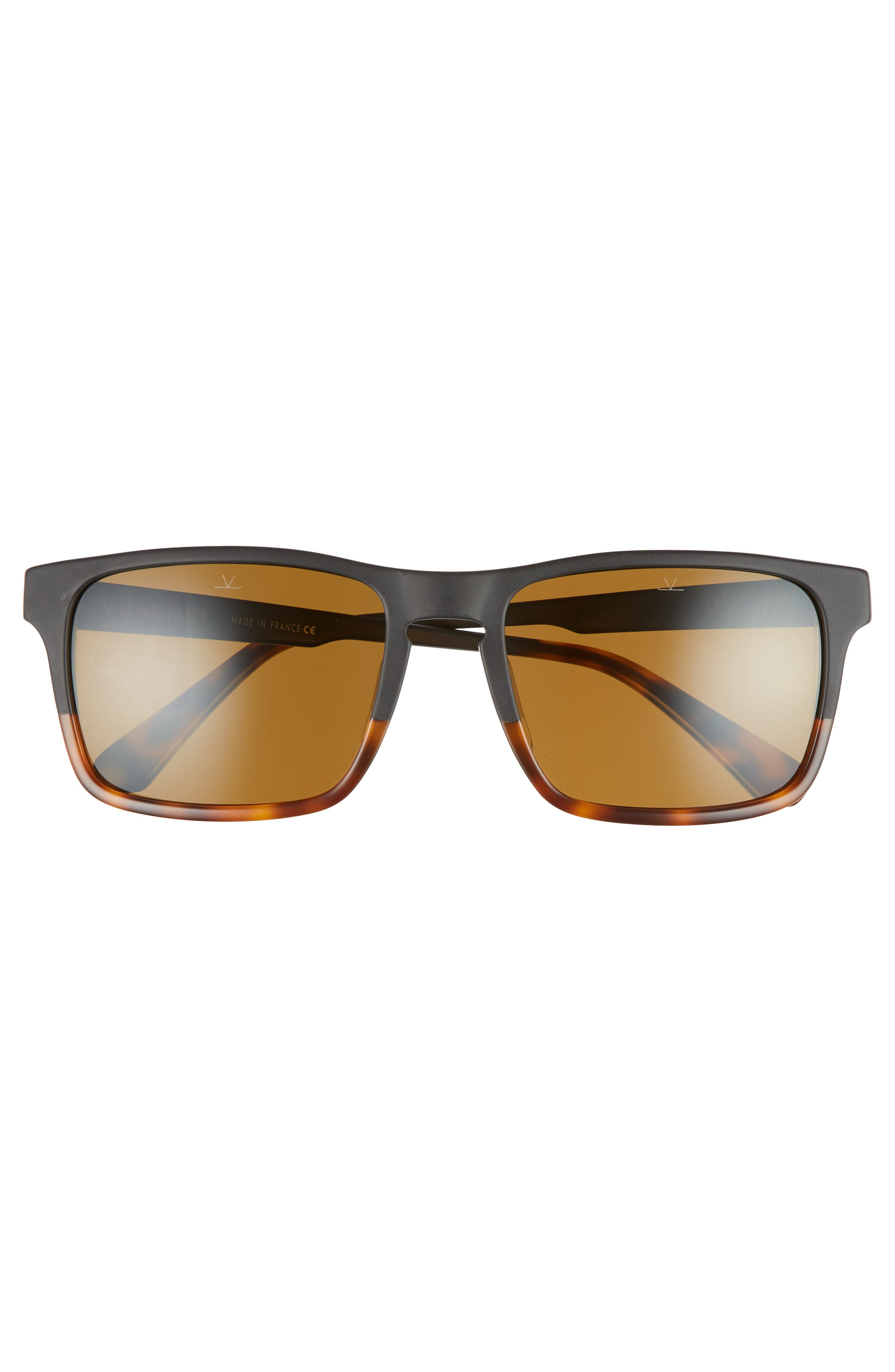 Large District 54mm Sunglasses,                             Alternate thumbnail 2, color,                             Matt Black / Tortoise
