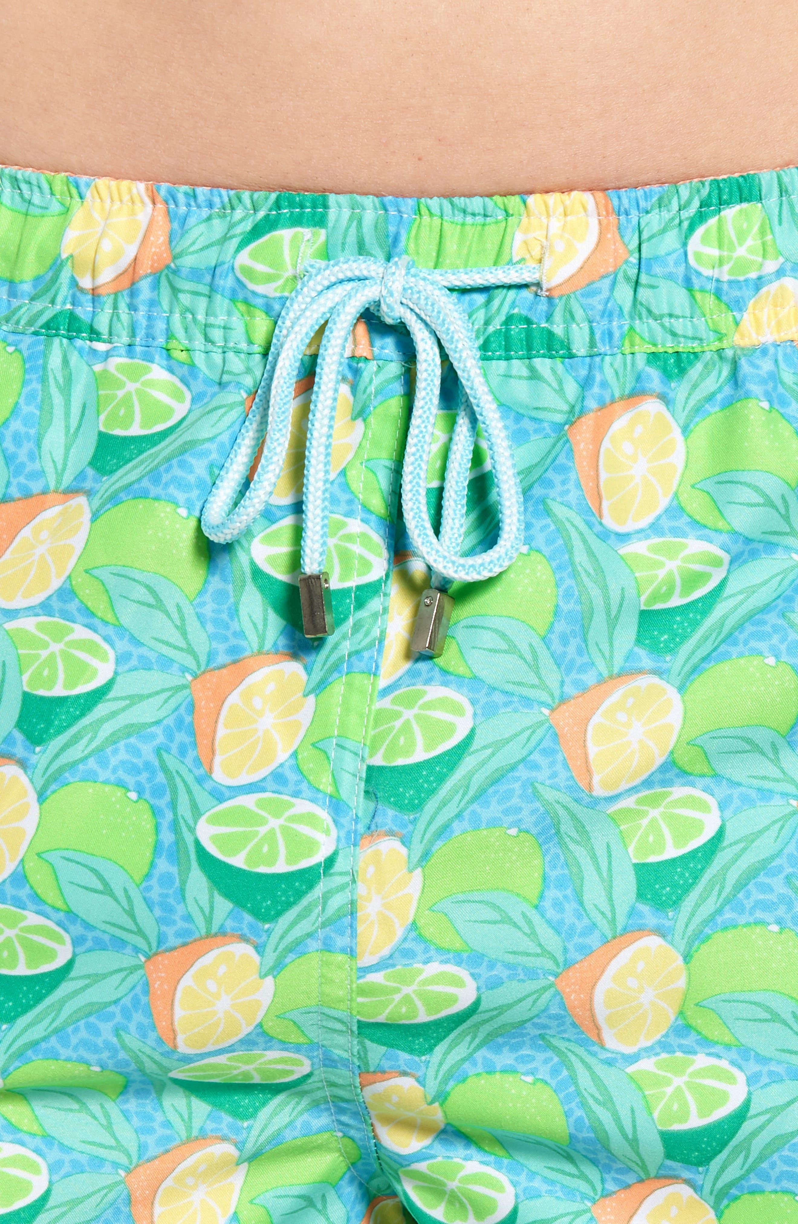 Sour Lemons Swim Trunks,                             Alternate thumbnail 4, color,                             Watercress