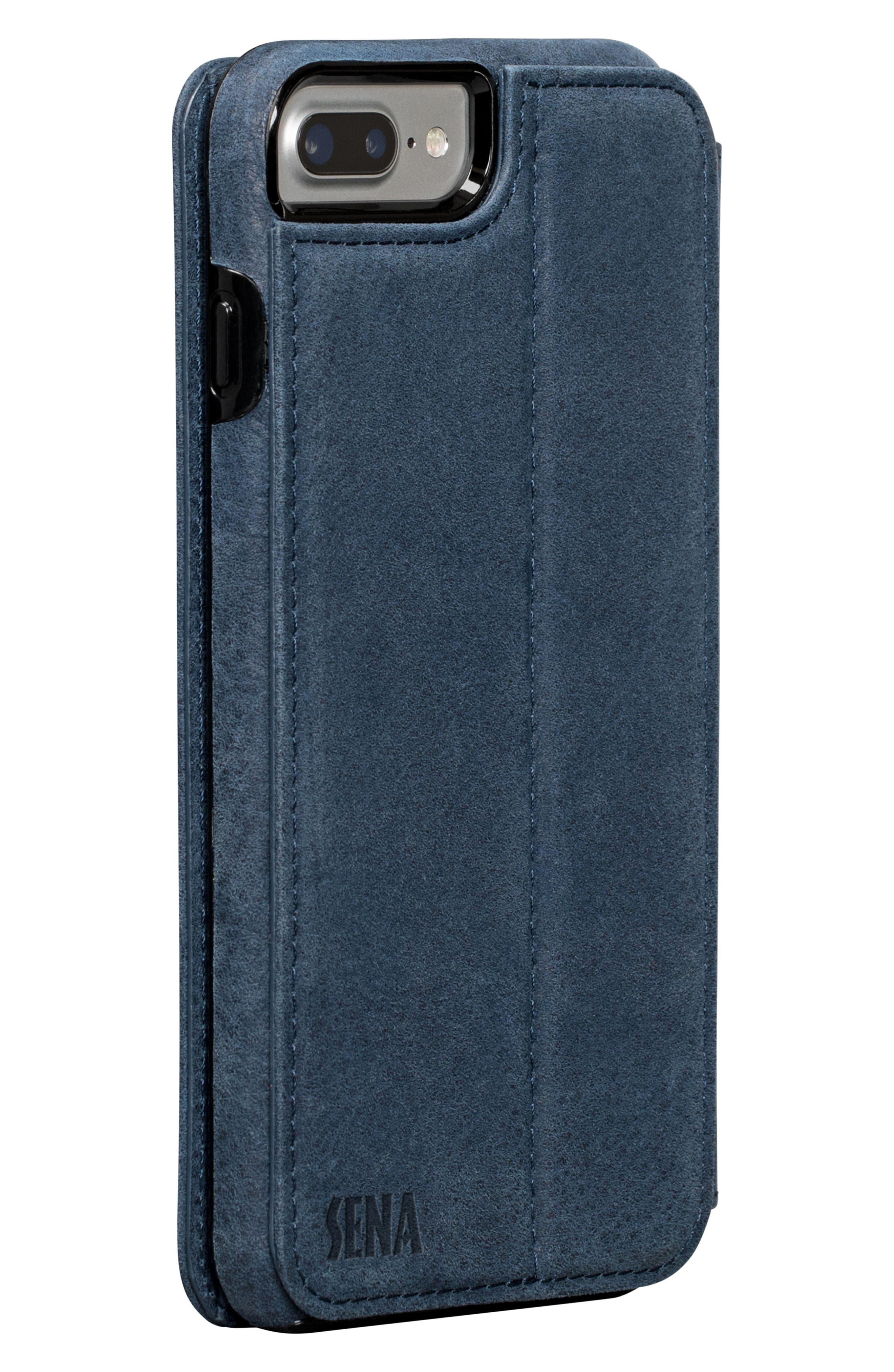 Bence iPhone 7/8 Plus Walletbook,                             Alternate thumbnail 2, color,                             Denim