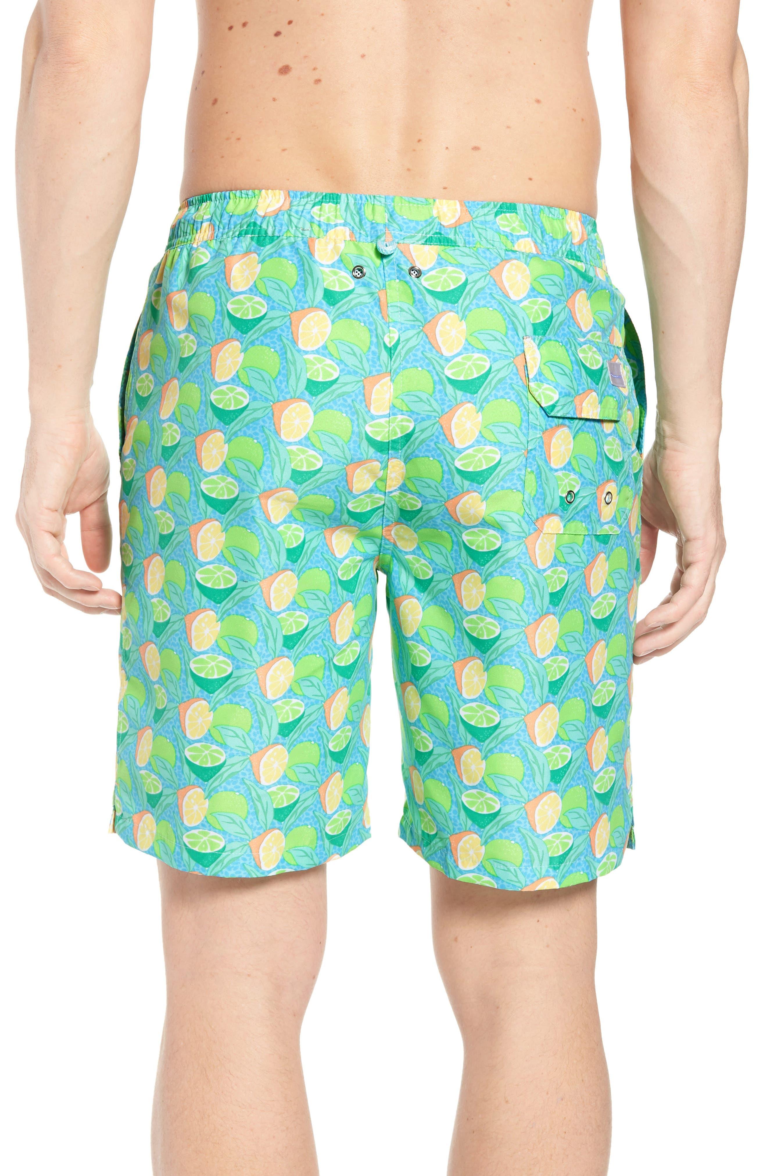 Sour Lemons Swim Trunks,                             Alternate thumbnail 2, color,                             Watercress