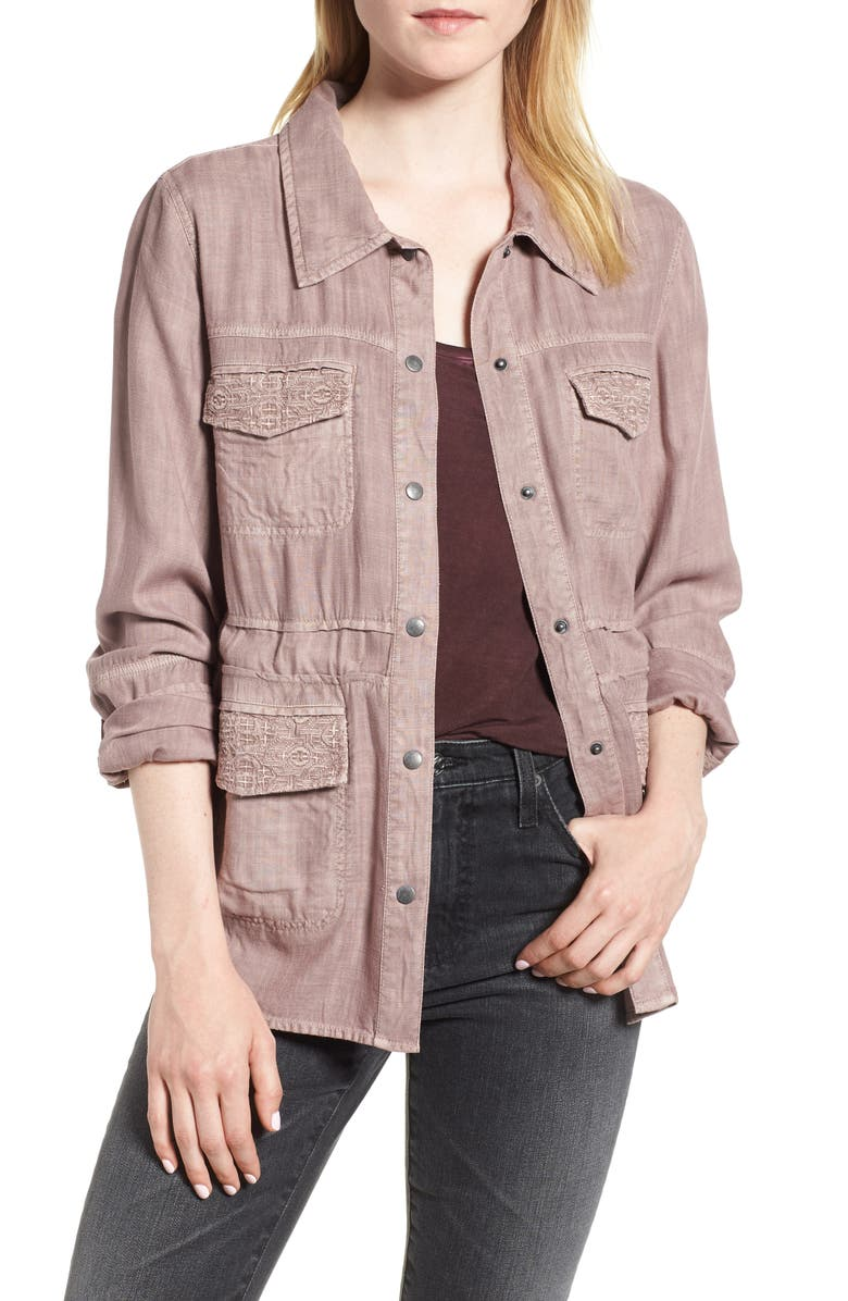 Drapey Shirt Jacket