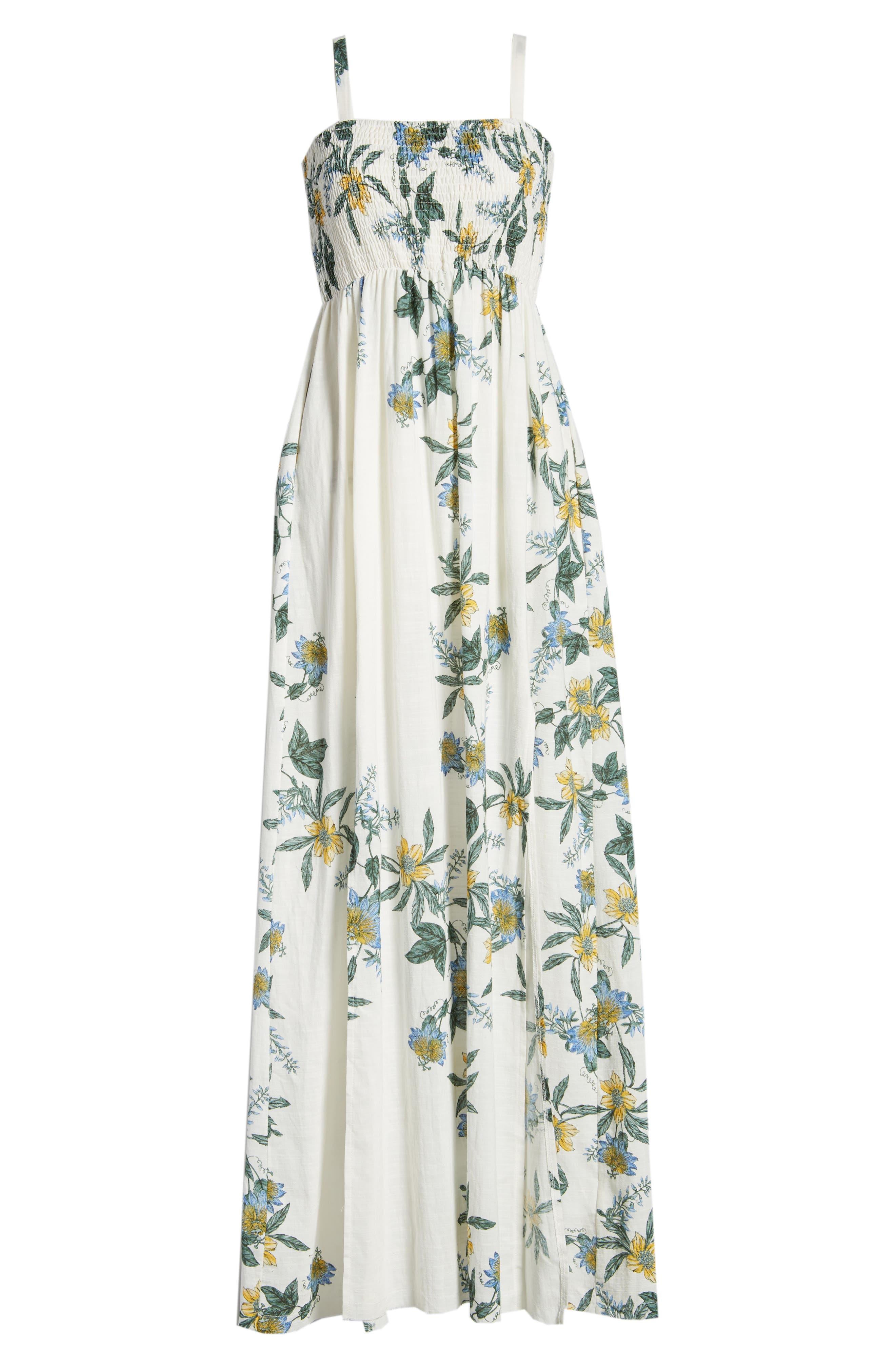 Luscious Lands Slit Hem Maxi Dress,                             Alternate thumbnail 7, color,                             Multi