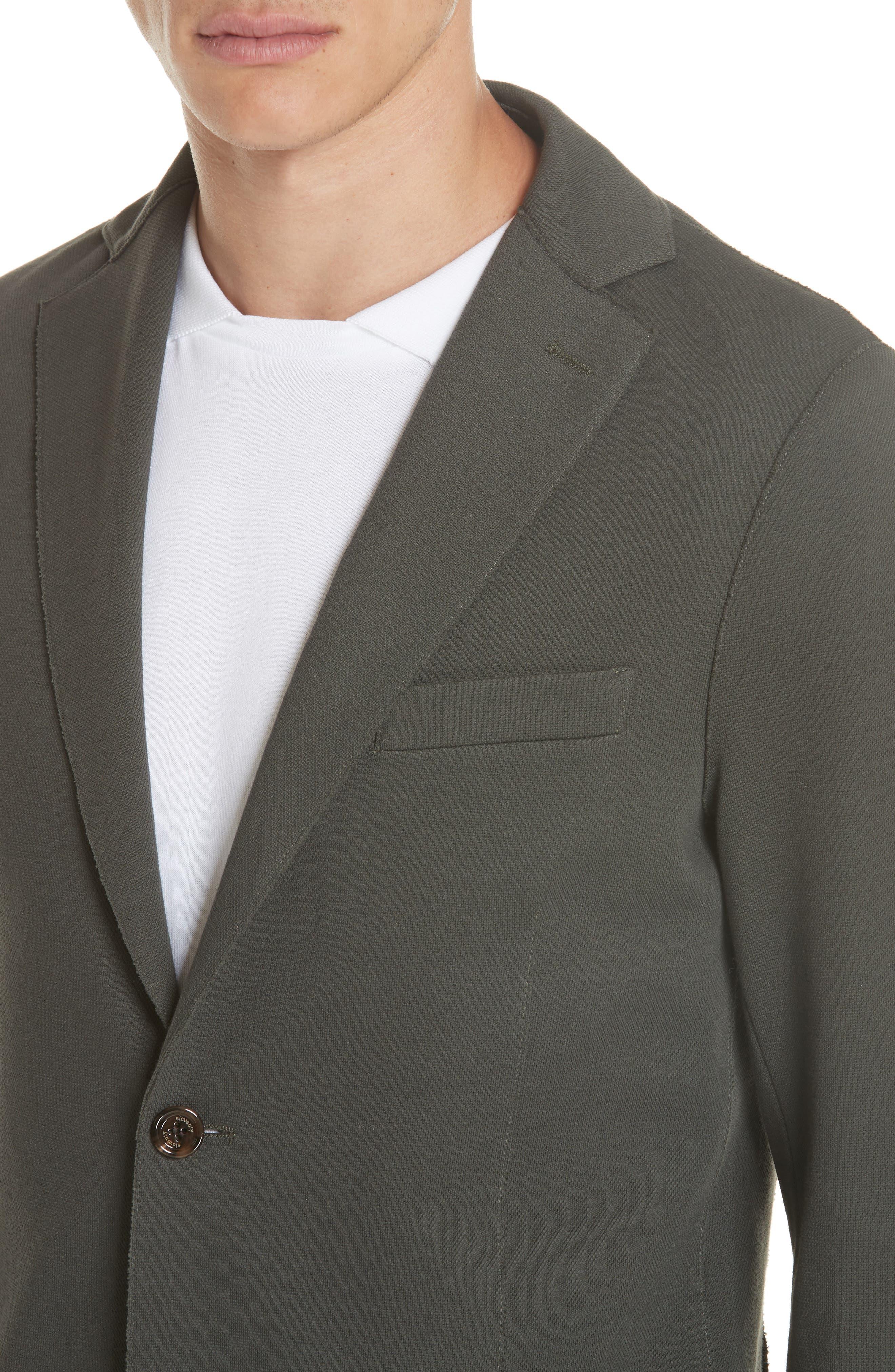 Trim Fit Stretch Cotton Blend Blazer,                             Alternate thumbnail 4, color,                             Sage