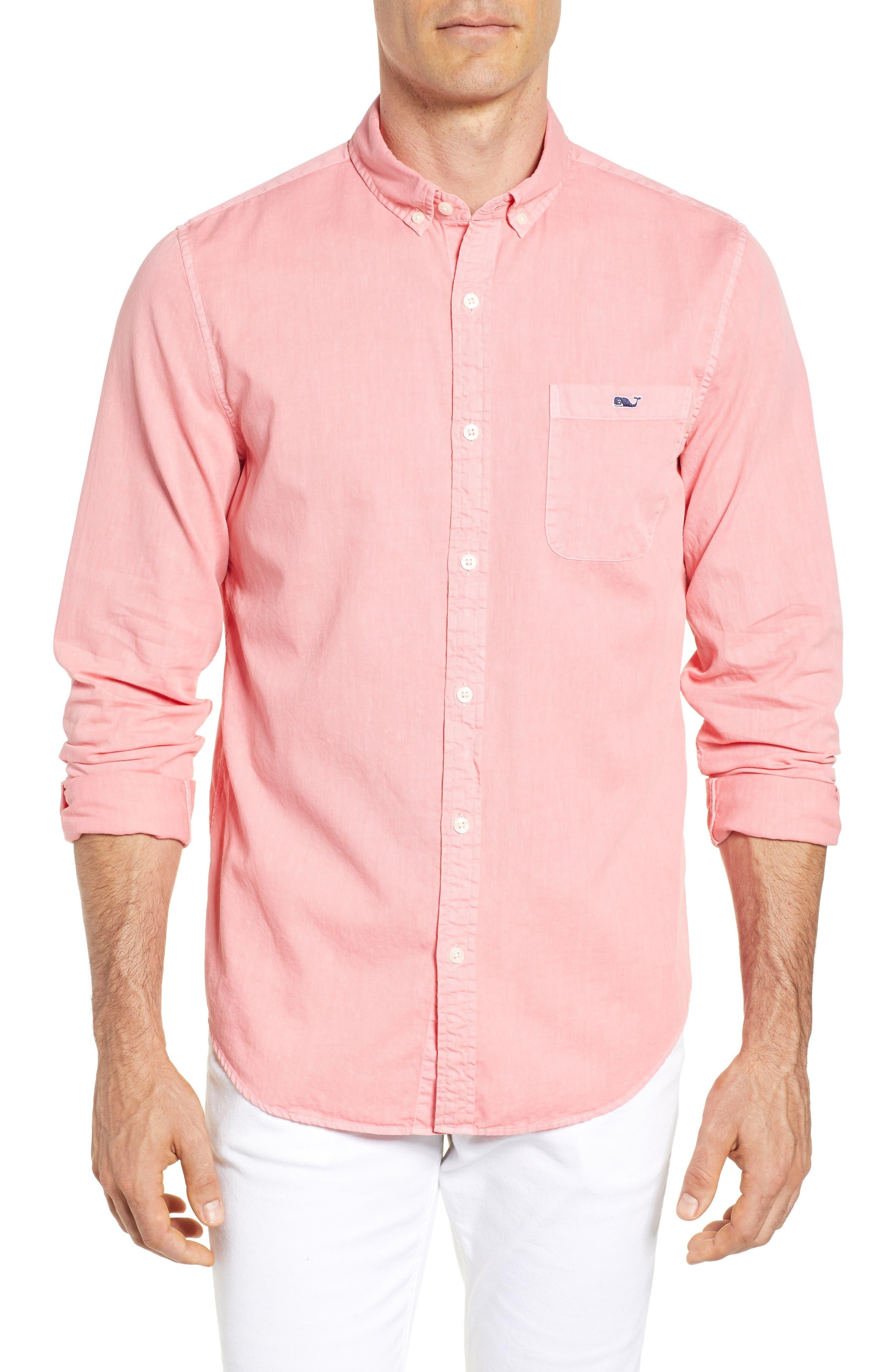 Tucker Slim Fit Solid Cotton & Silk Sport Shirt,                             Main thumbnail 1, color,                             Strawberry Blonde