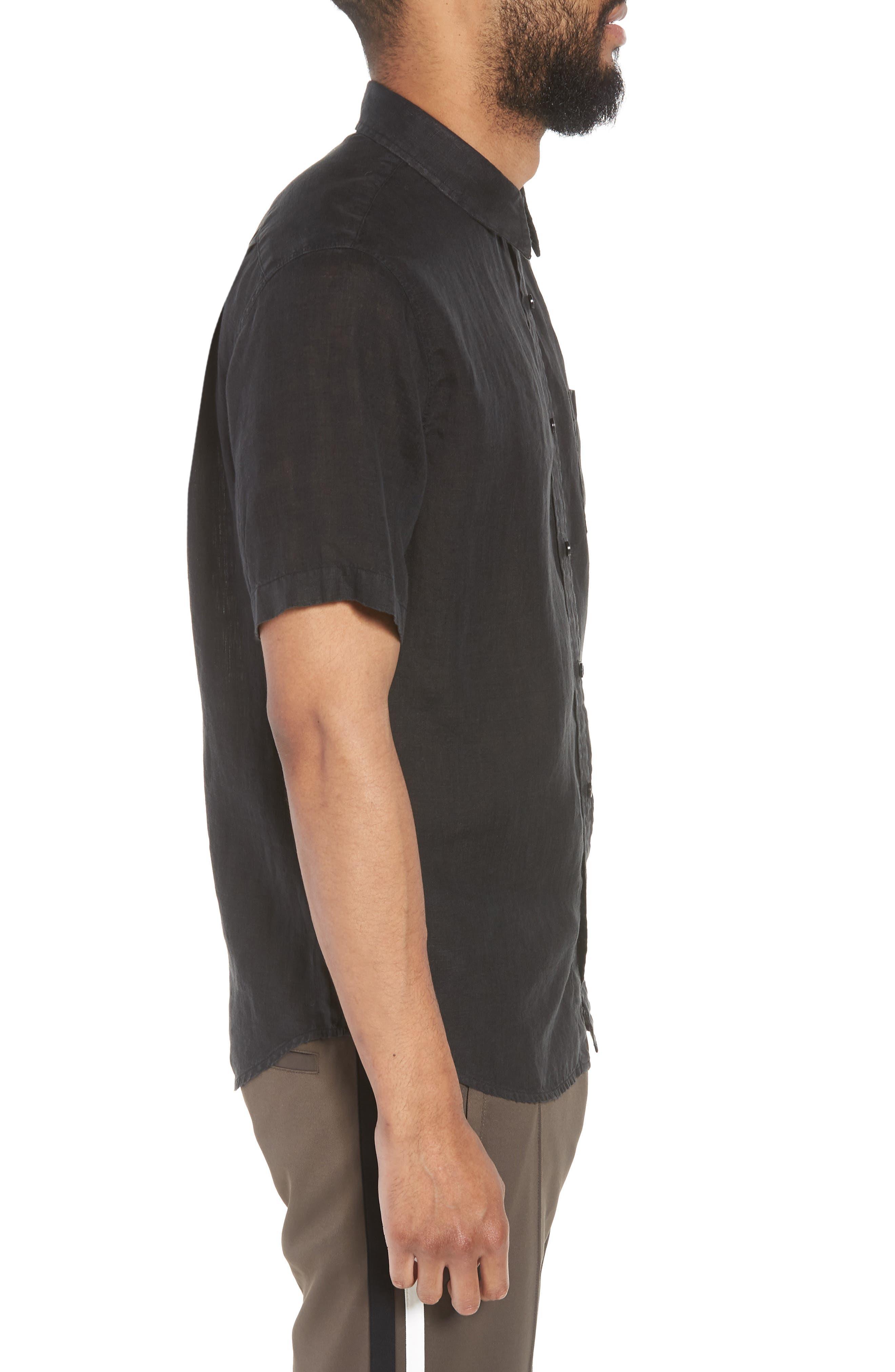 Classic Fit Sport Shirt,                             Alternate thumbnail 4, color,                             Black
