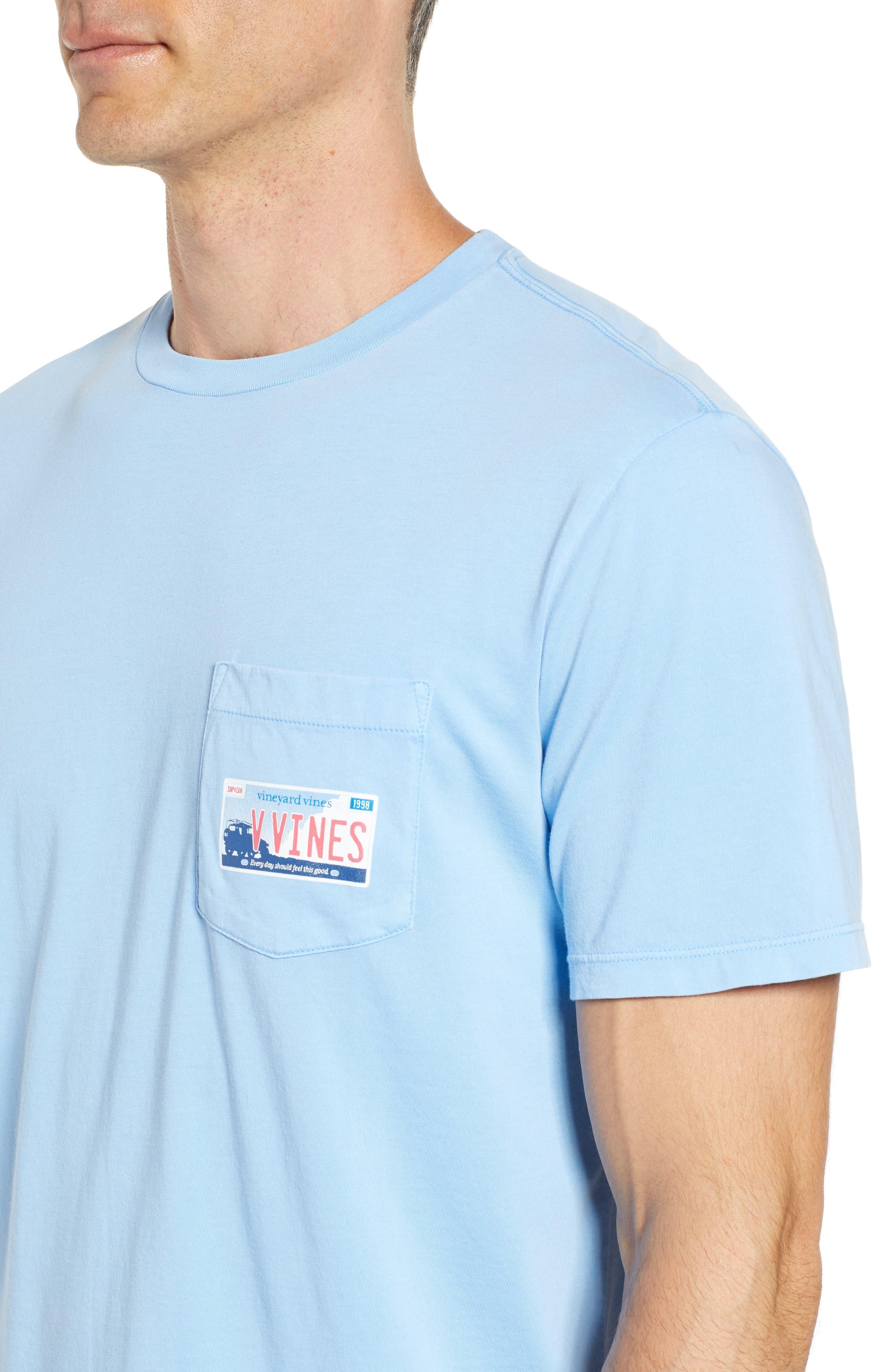 Tie Guys Plate Regular Fit Crewneck T-Shirt,                             Alternate thumbnail 4, color,                             Jake Blue