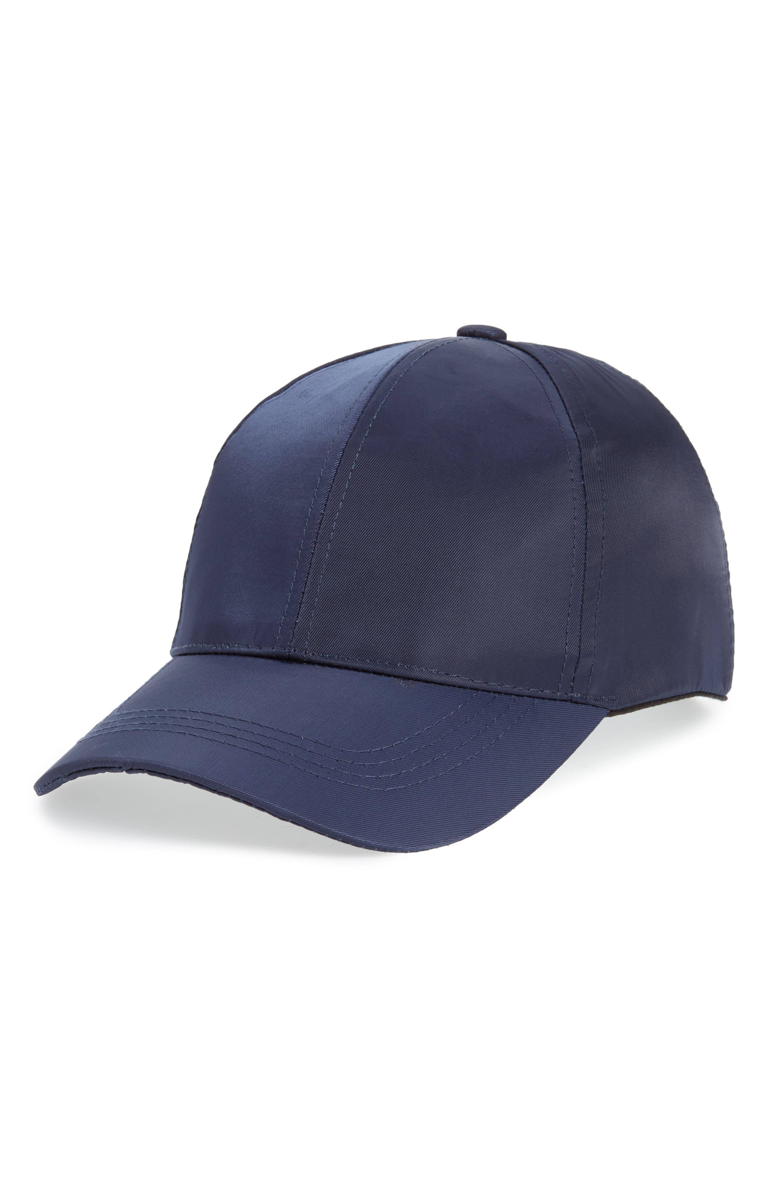 Water Repellent Baseball Hat,                         Main,                         color, Blue Insignia