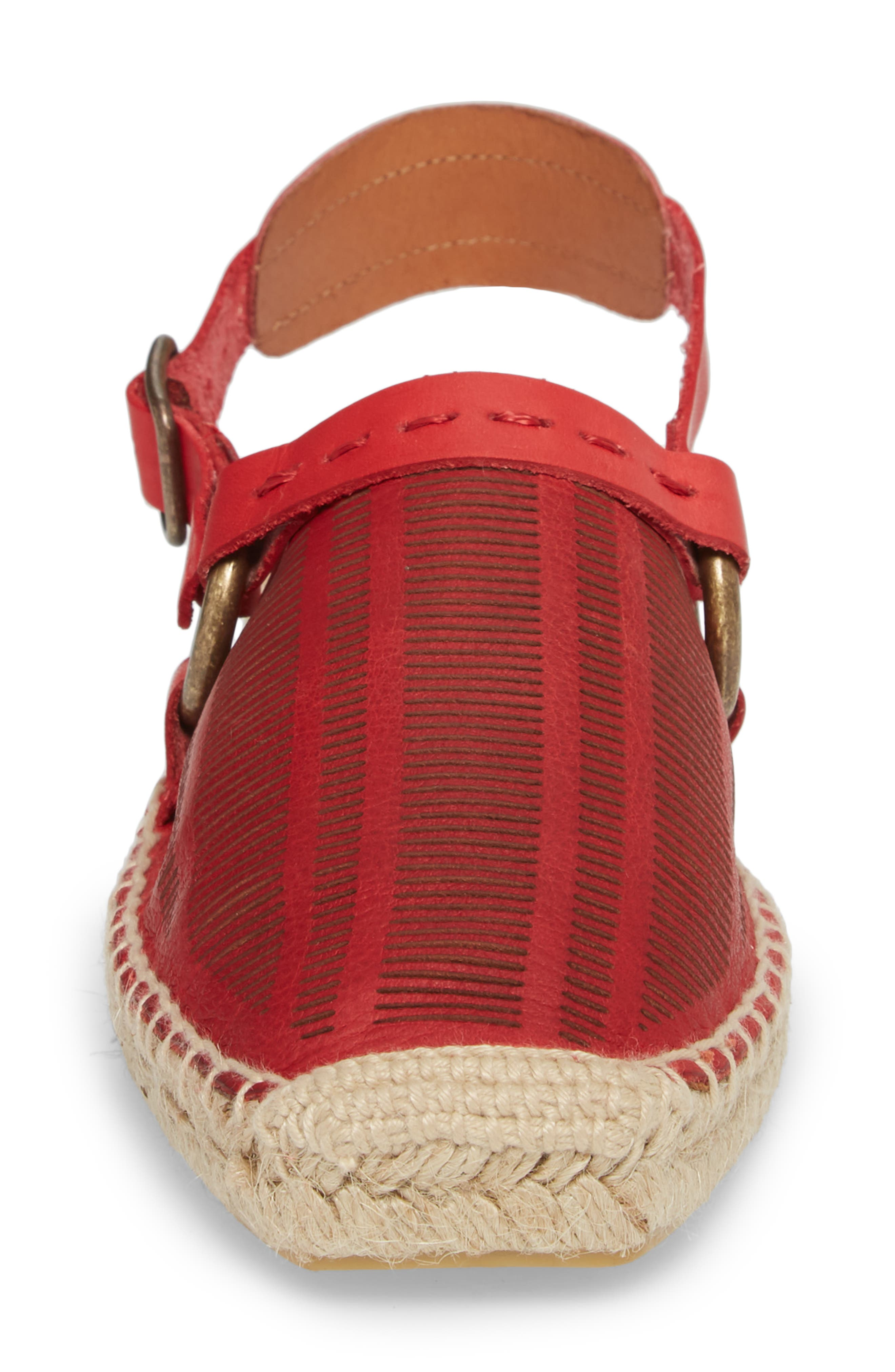 Cabo Espadrille Flat,                             Alternate thumbnail 6, color,                             Red