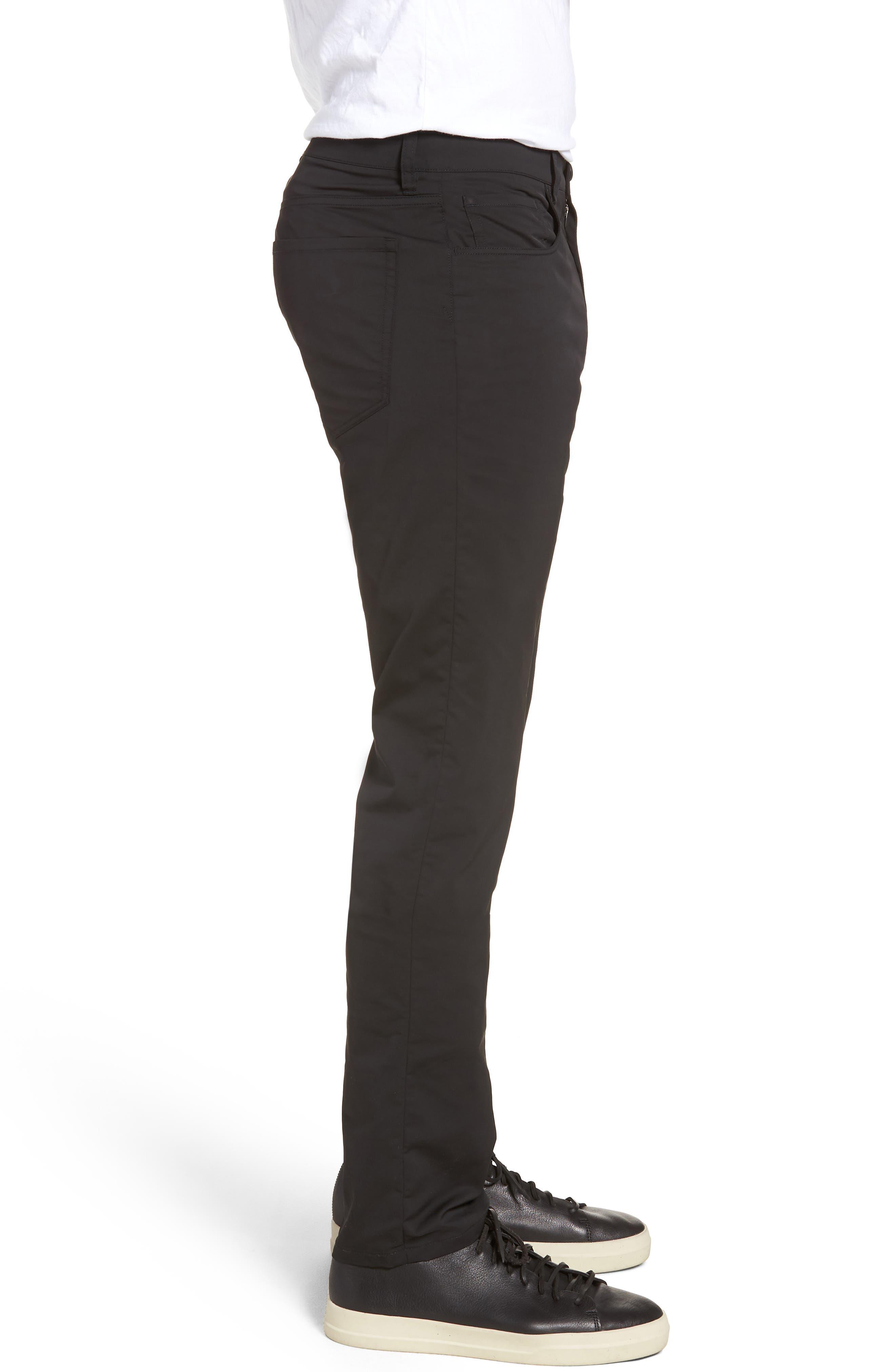 Tech Five-Pocket Pants,                             Alternate thumbnail 3, color,                             Black