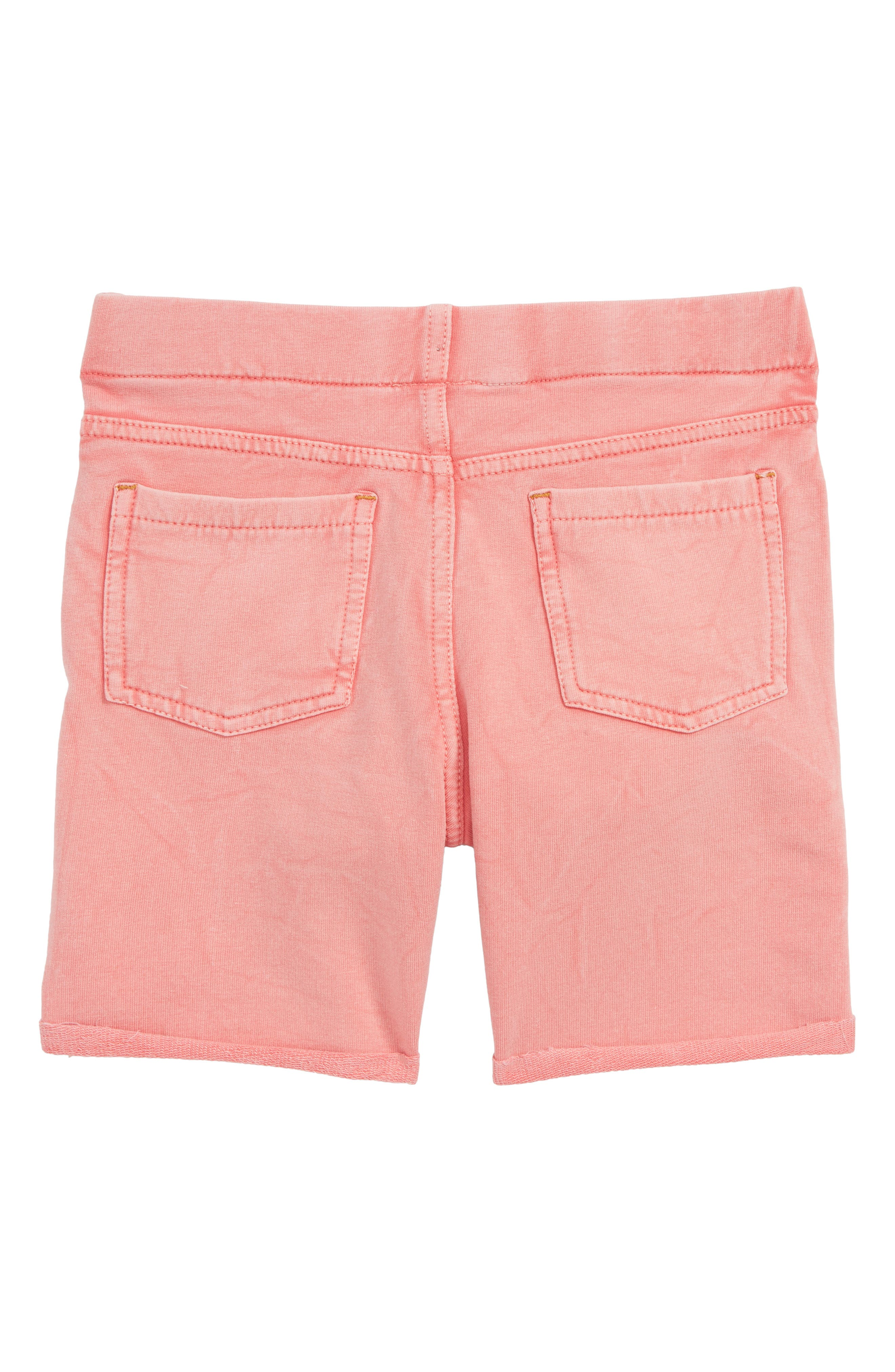 'Jenna' Jegging Shorts,                             Alternate thumbnail 2, color,                             Coral Shell Wash