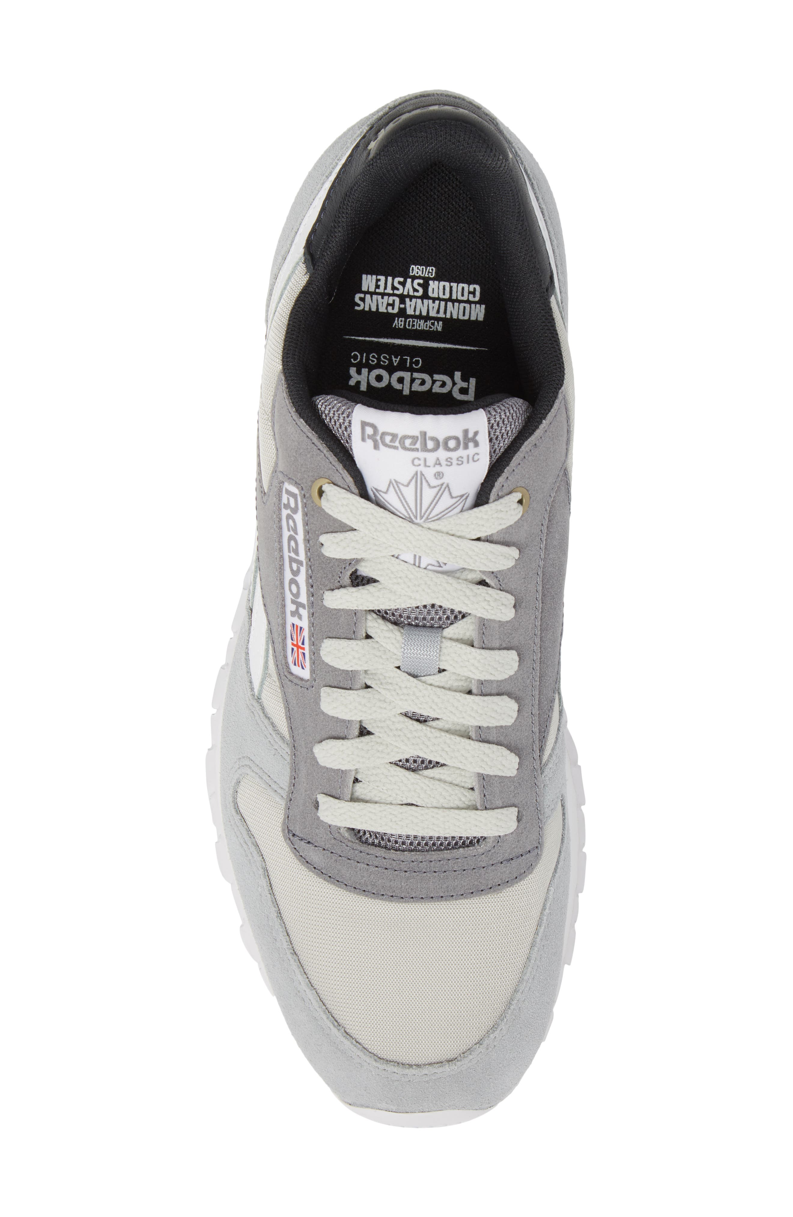 Classic Leather MCCS Sneaker,                             Alternate thumbnail 5, color,                             Grey/ White