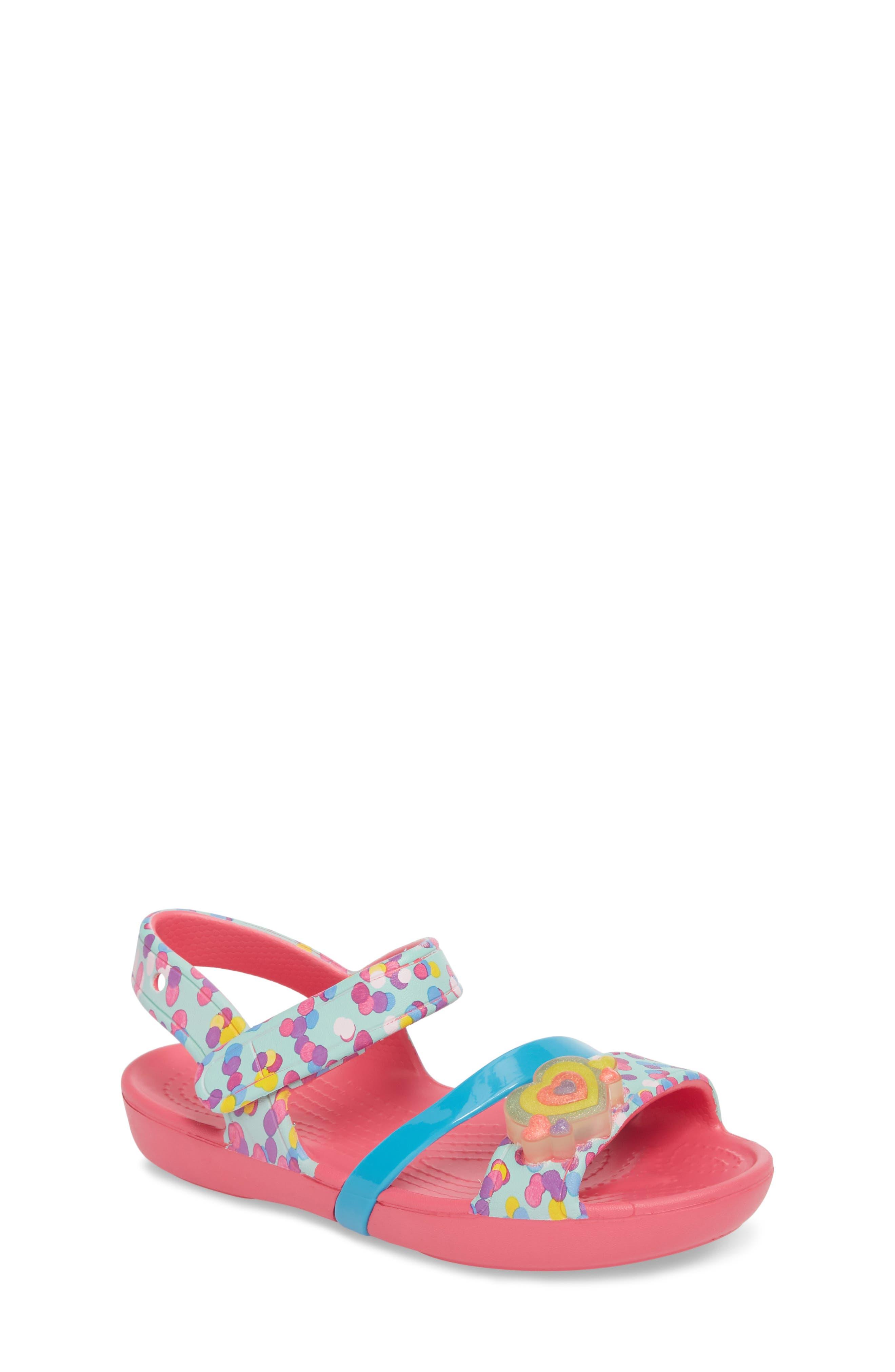CROCS™ Lina Light-Up Sandal (Baby, Walker, Toddler & Little Kid)