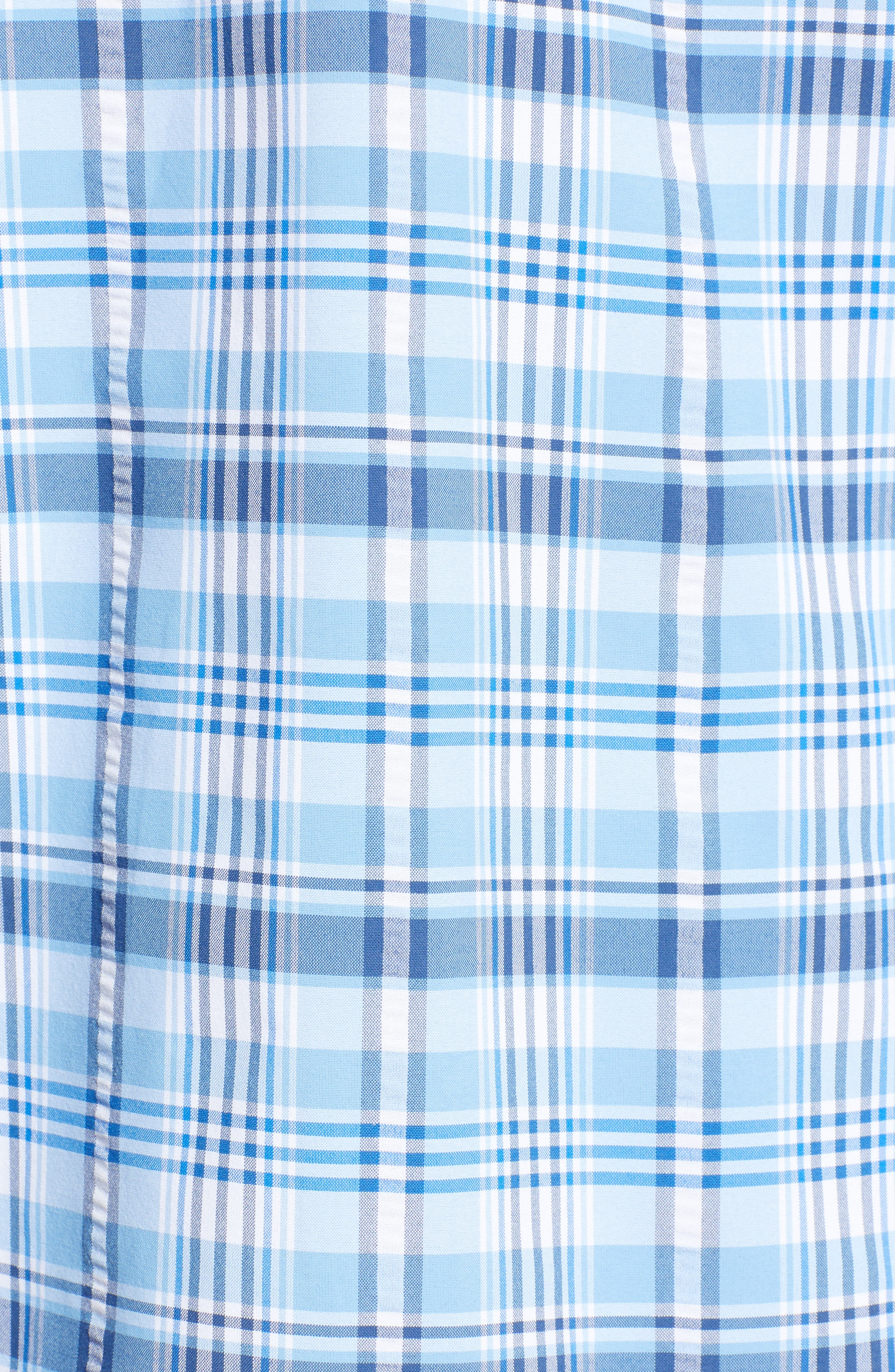 Prospect Hill Harbor Regular Fit Plaid Performance Sport Shirt,                             Alternate thumbnail 5, color,                             Ocean Breeze